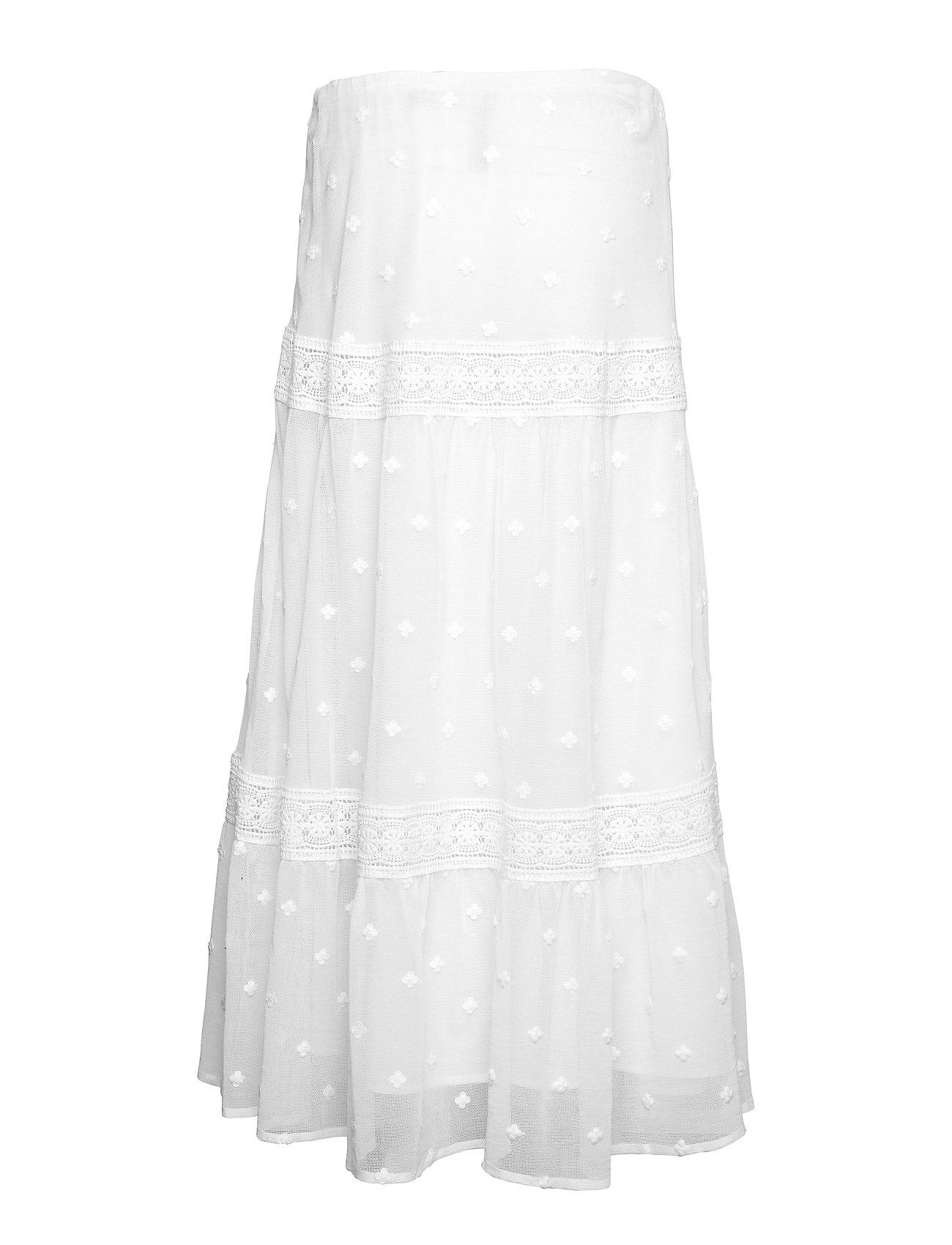 Lace SkirtwhiteLauren Cotton blend trim Ralph D9EYWI2H