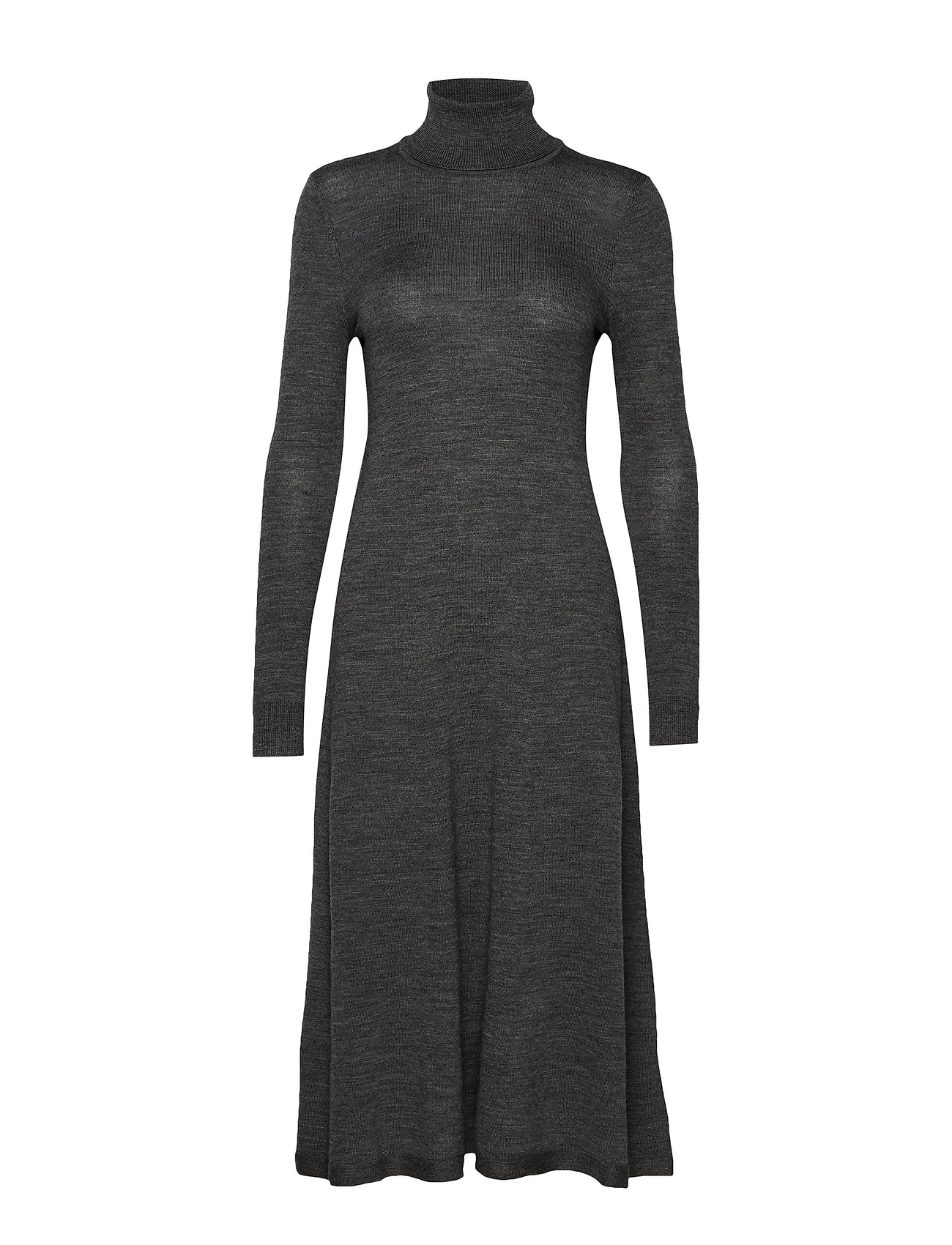 Lauren Ralph Lauren MERINO WOOL-LS TN DRESS - LEXINGTON GREY HE