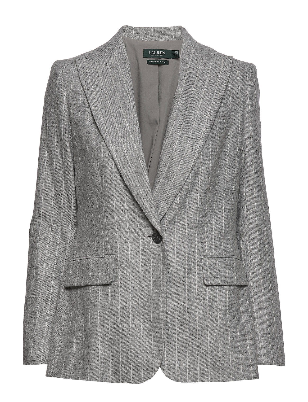 Lauren Ralph Lauren FLANNEL SUITING-JACKET - LIGHT GREY MULTI