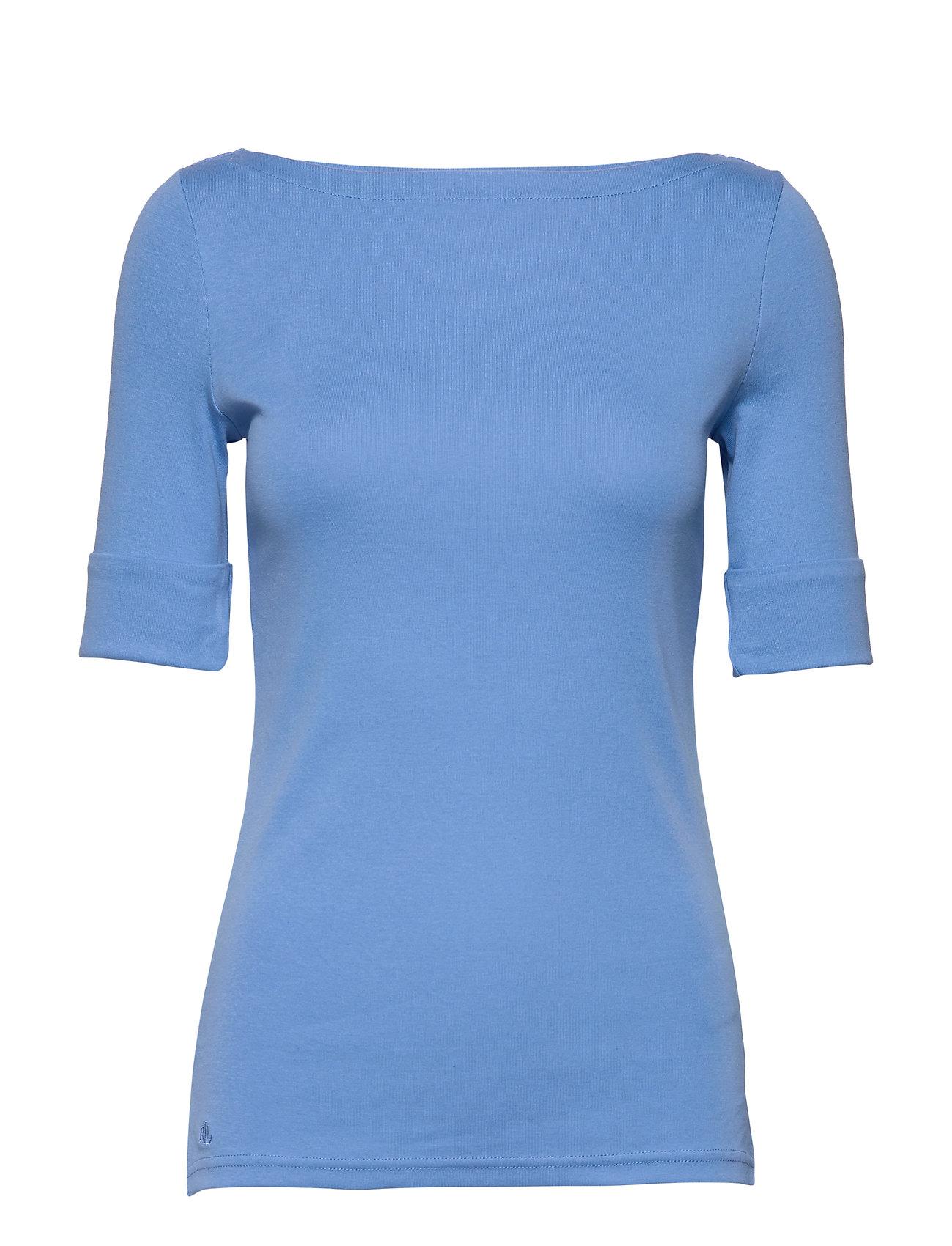 Lauren Ralph Lauren RFND STRTCH 1X1 RIB-KNT - EOS BLUE