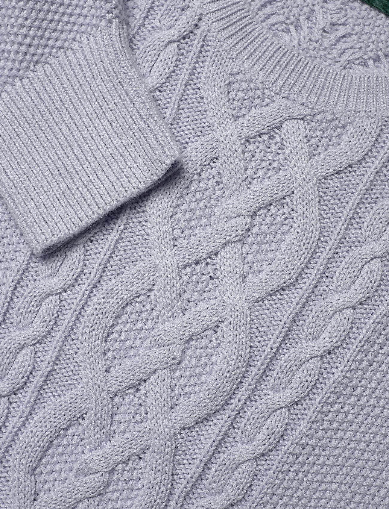Lauren Ralph Lauren Puff-Sleeve Cable Sweater - Strikkevarer TOILE BLUE - Dameklær Spesialtilbud