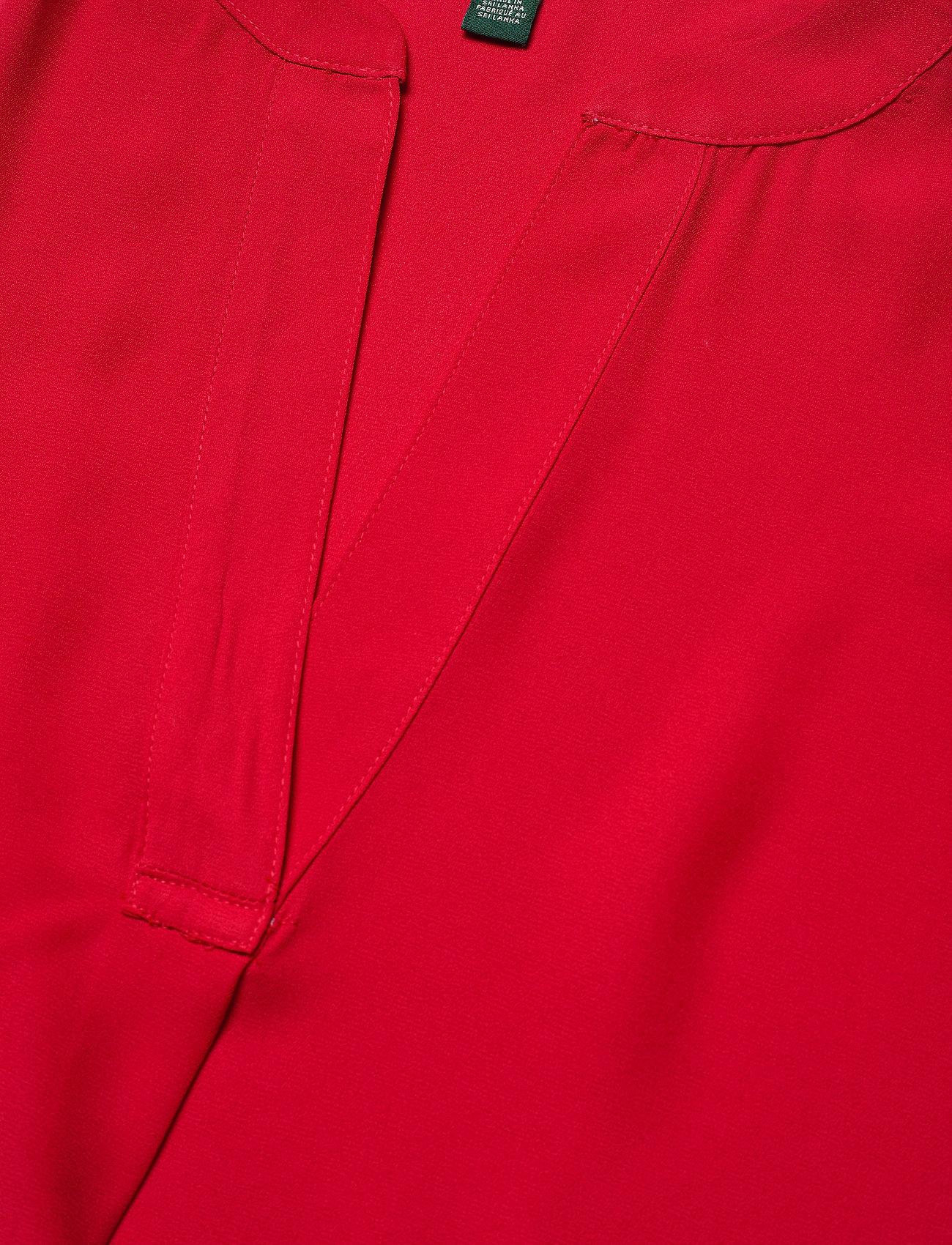 Lauren Ralph Lauren DRAPEY POLY GGT-SHIRT - Bluser & Skjorter ORIENT RED - Dameklær Spesialtilbud