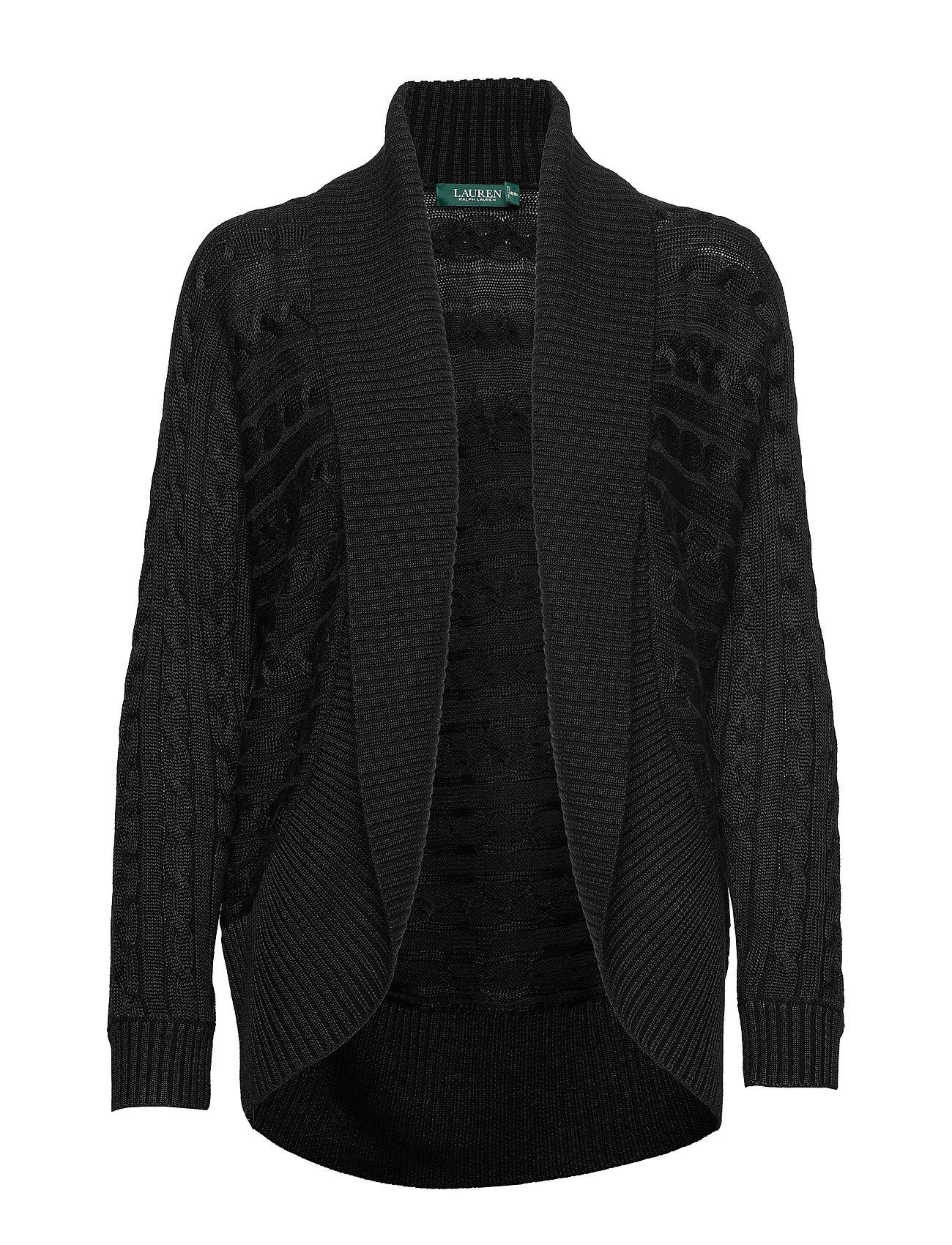 Lauren Ralph Lauren Cable-Knit Cardigan - POLO BLACK