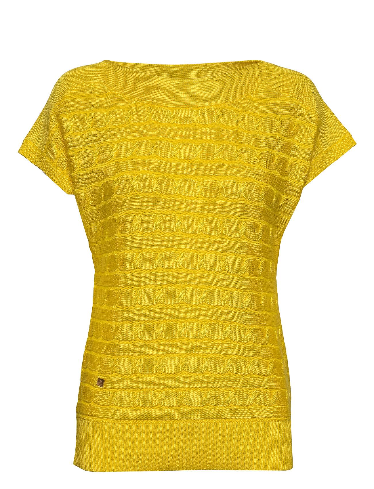 Lauren Ralph Lauren Cable-Knit Boatneck Sweater - DANDELION FIELDS