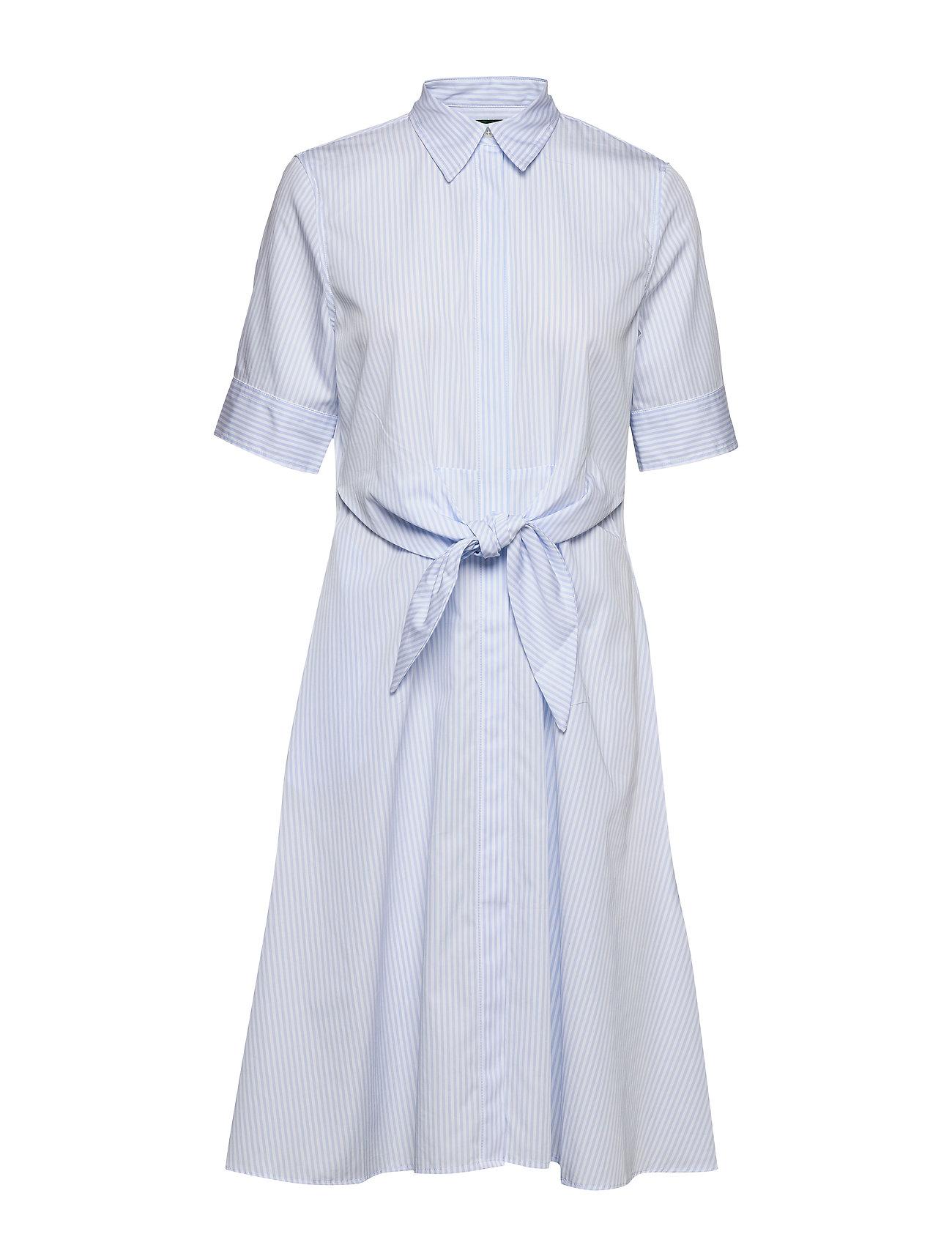 Lauren Ralph Lauren Striped Cotton Shirtdress - BLUE/WHITE