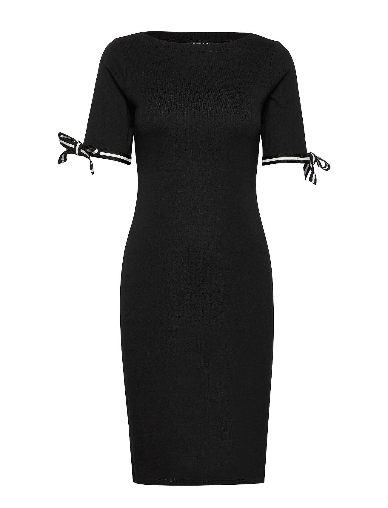 Lauren Ralph Lauren Cotton Boatneck Dress - POLO BLACK