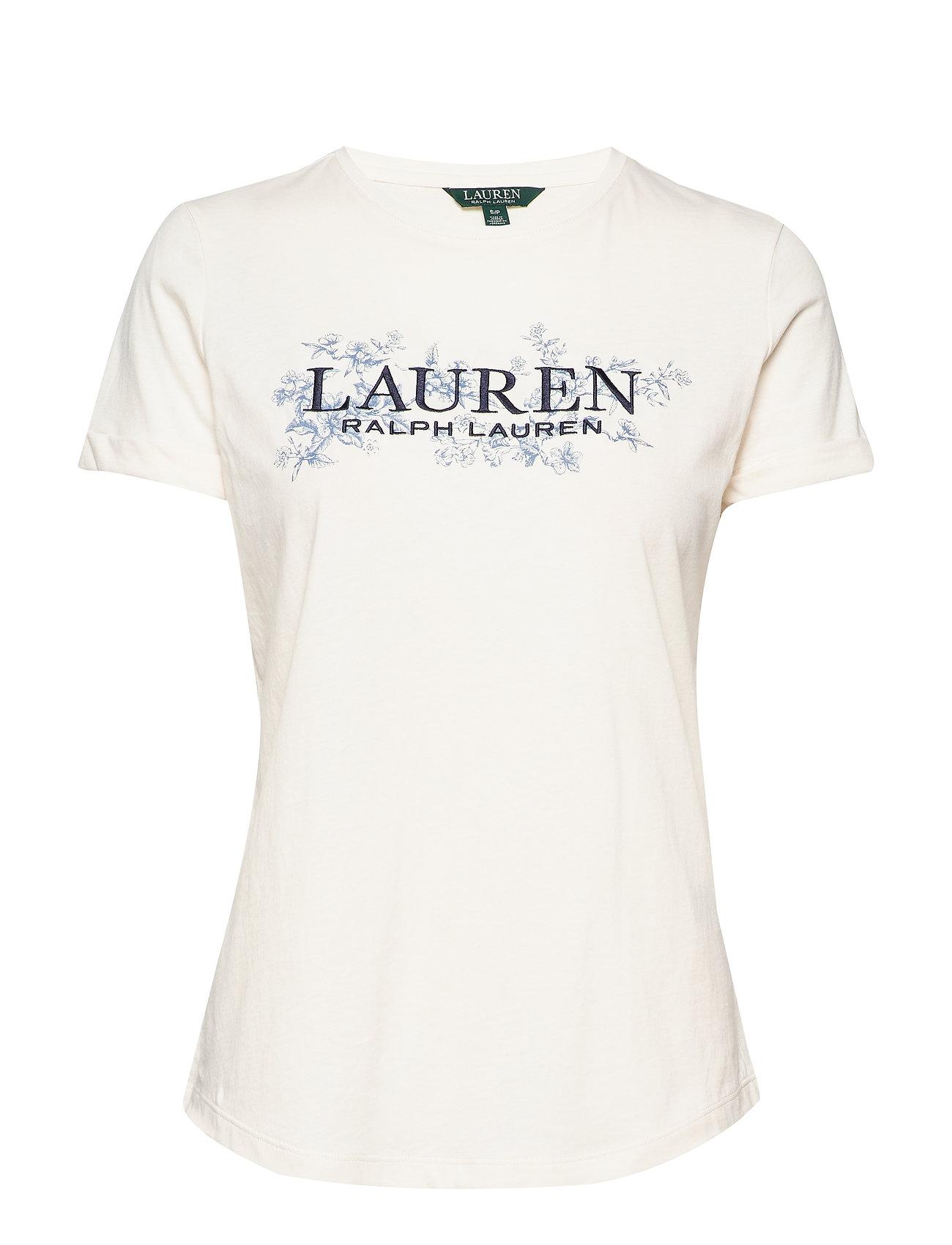 Lauren Ralph Lauren LIQUID COTTON JRSY-SSL-KNT - MASCARPONE CREAM