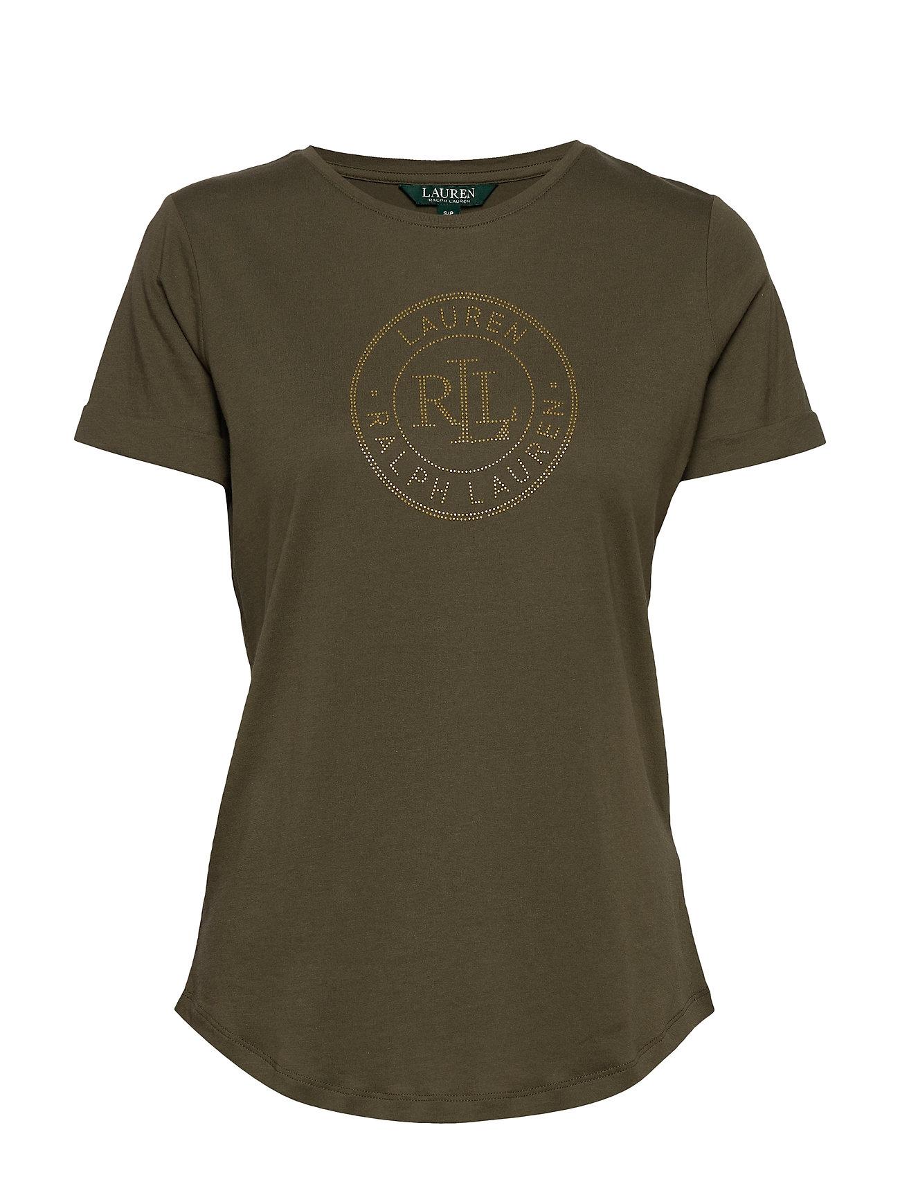 Lauren Ralph Lauren Logo Cotton Tee - DARK SAGE