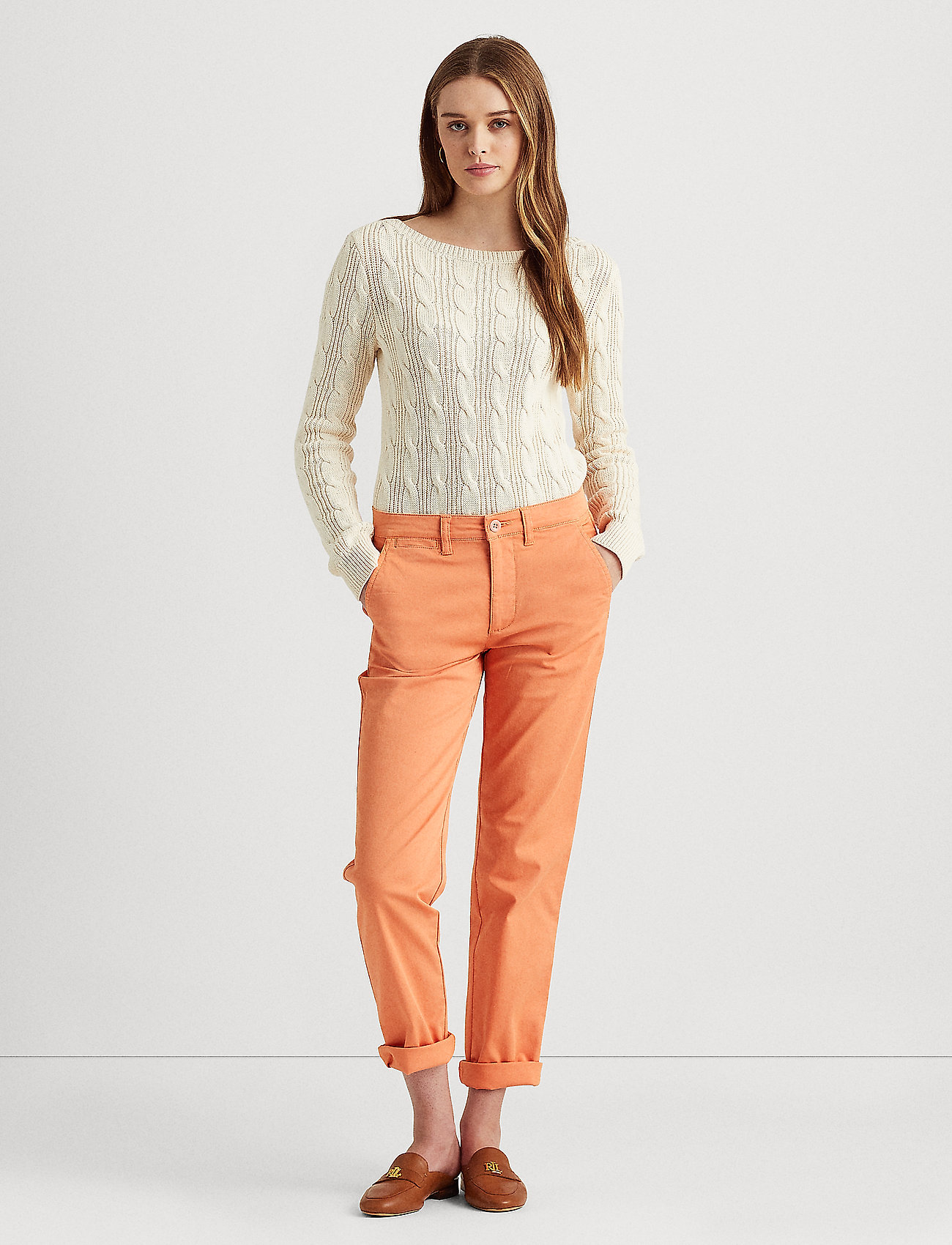 Lauren Ralph Lauren - Slim Fit Stretch Chino Pant - chinos - shell coral - 0