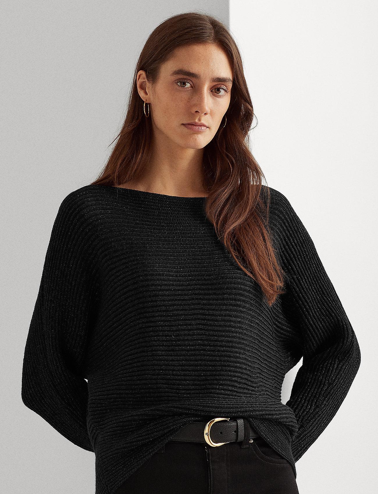Lauren Ralph Lauren - Dolman-Sleeve Boatneck Sweater - pulls - polo black lurex - 0