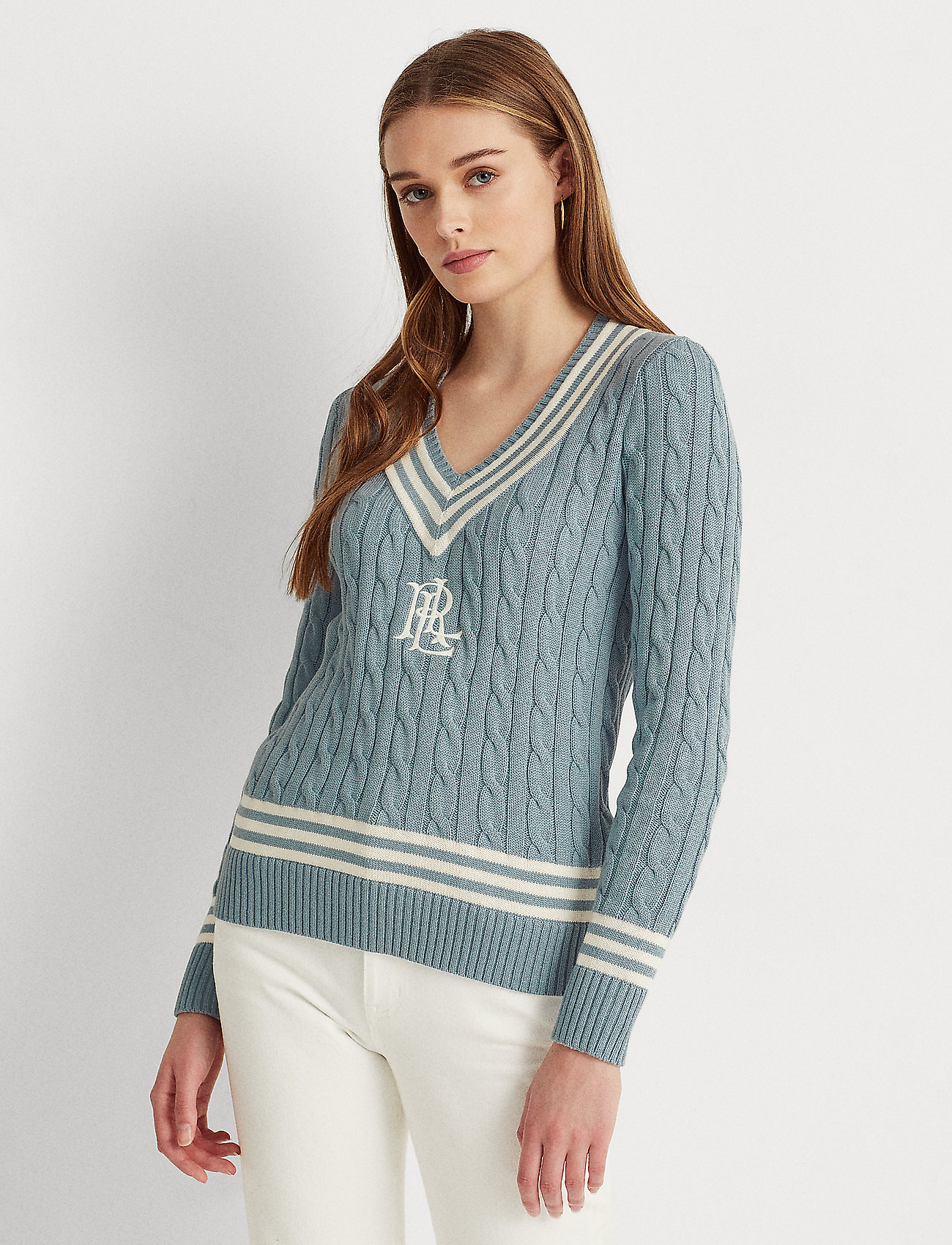 Lauren Ralph Lauren - Logo Cricket Sweater - pulls - dust blue/ mas cr - 0