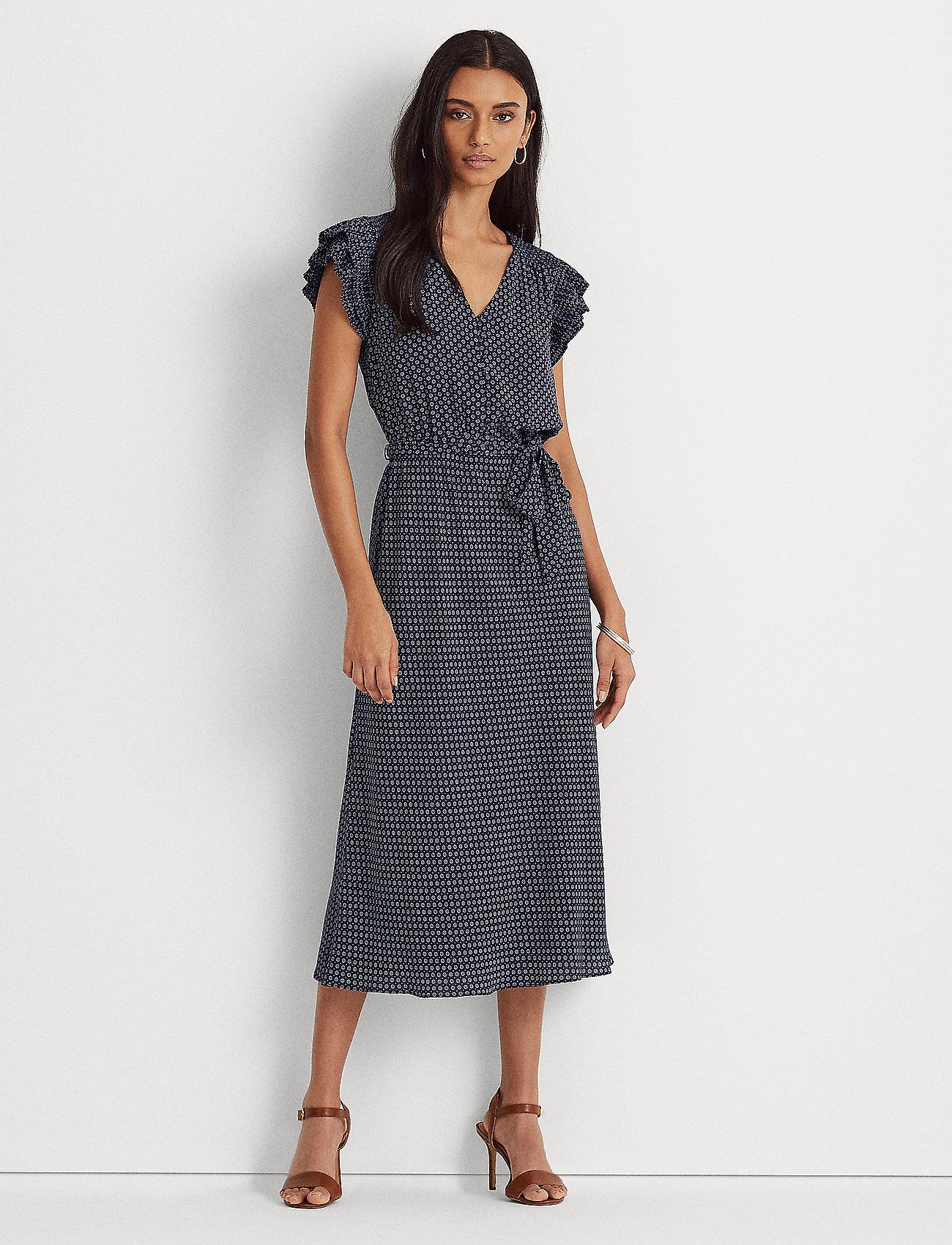 Lauren Ralph Lauren - Batik Georgette Dress - robes d'été - french navy/pale - 0