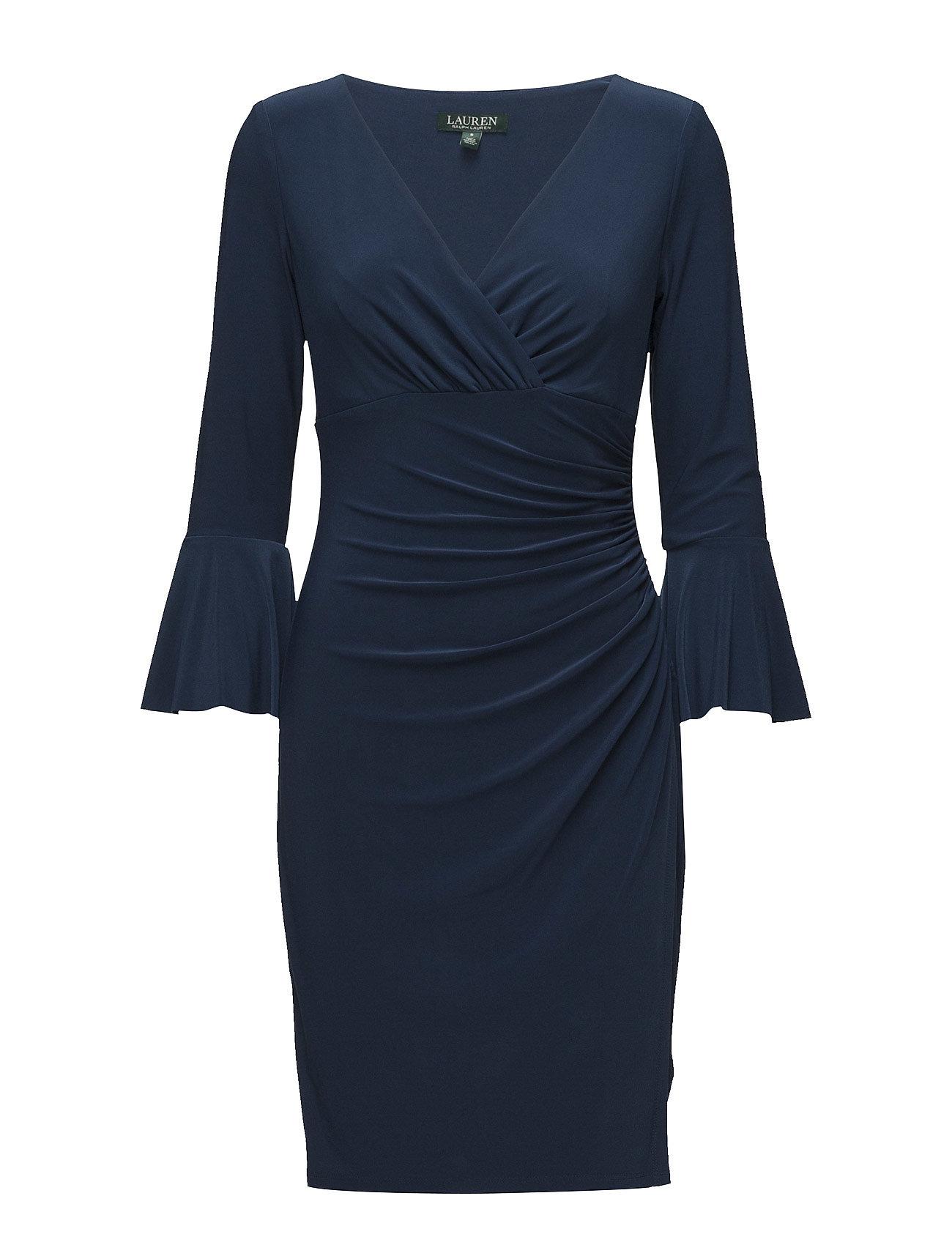 Lauren Ralph Jersey Bell Sleeve Dress