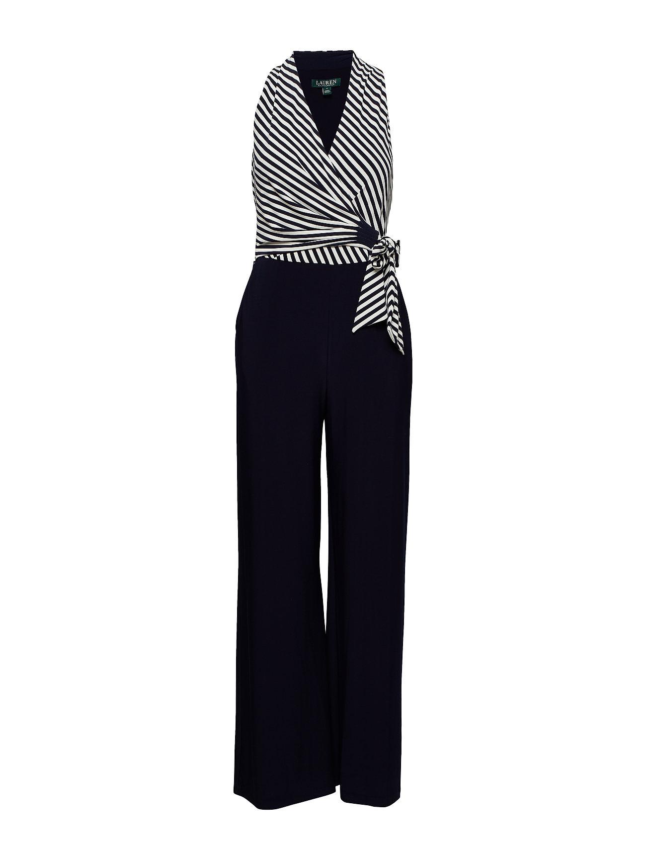4533c44f6945 Striped Jersey Jumpsuit (Lighthouse Navy c) (£180) - Lauren Ralph ...