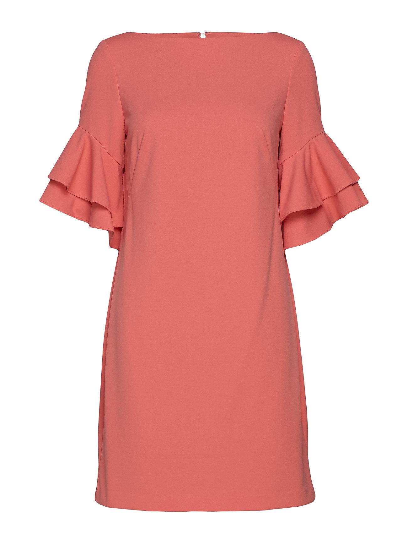 Lauren Ralph Lauren Ruffle-Sleeve Shift Dress - SUNSET ROSE