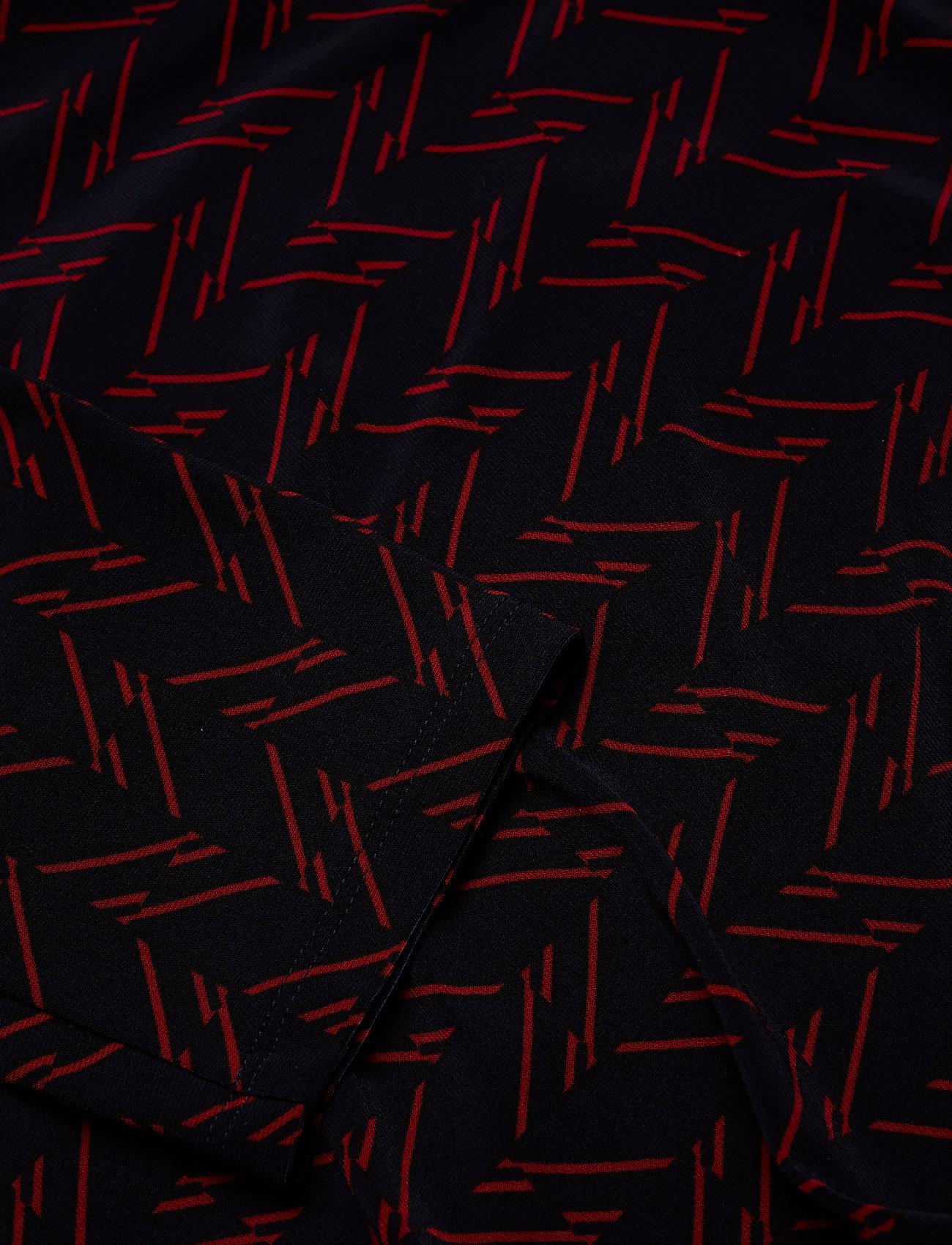Navy Print Jersey Dresslh vibrant GLauren Ralph Stretch QBshdCtxr