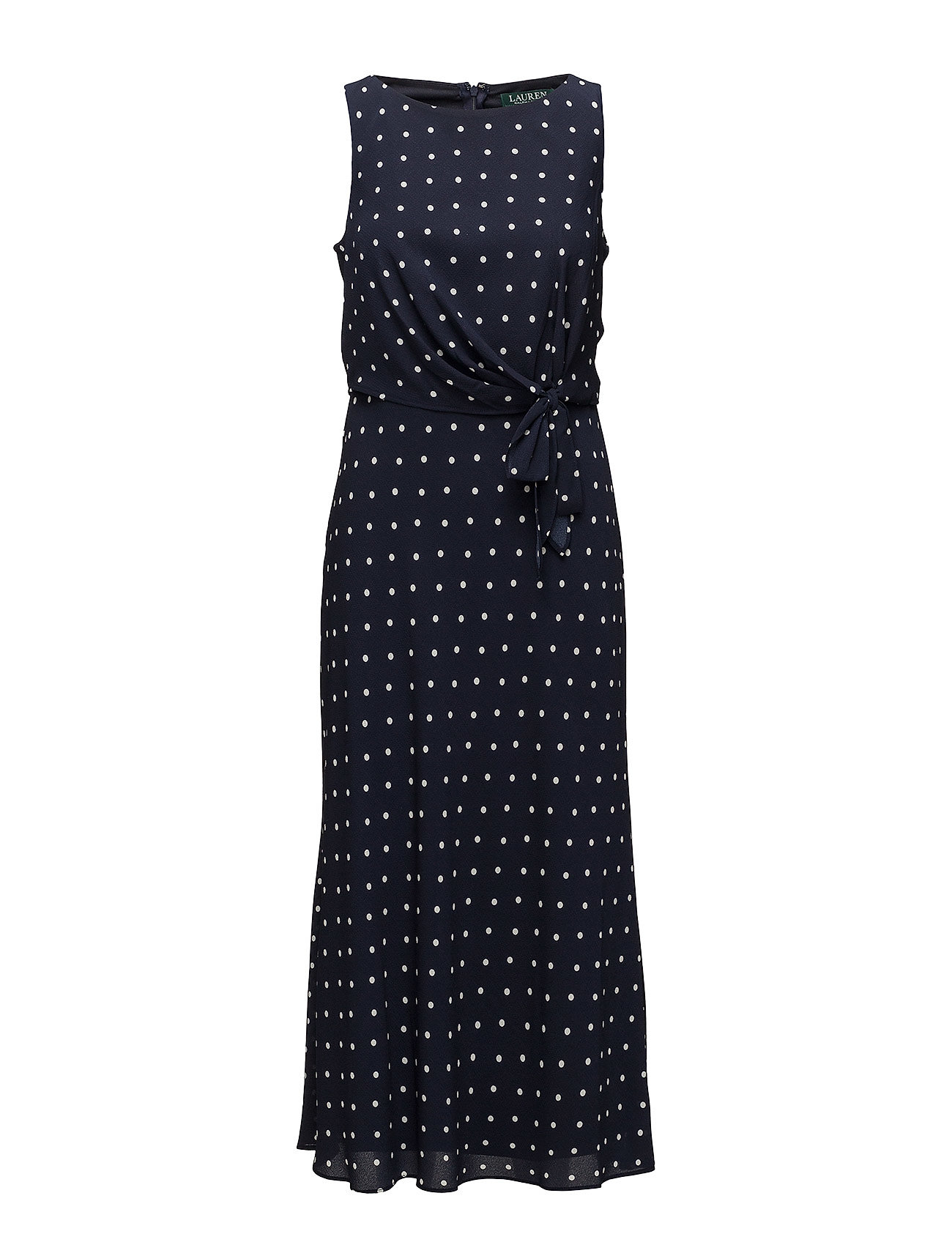 Lauren Ralph Lauren Polka-Dot Crepe Midi Dress - LH NAVY/COLONIAL