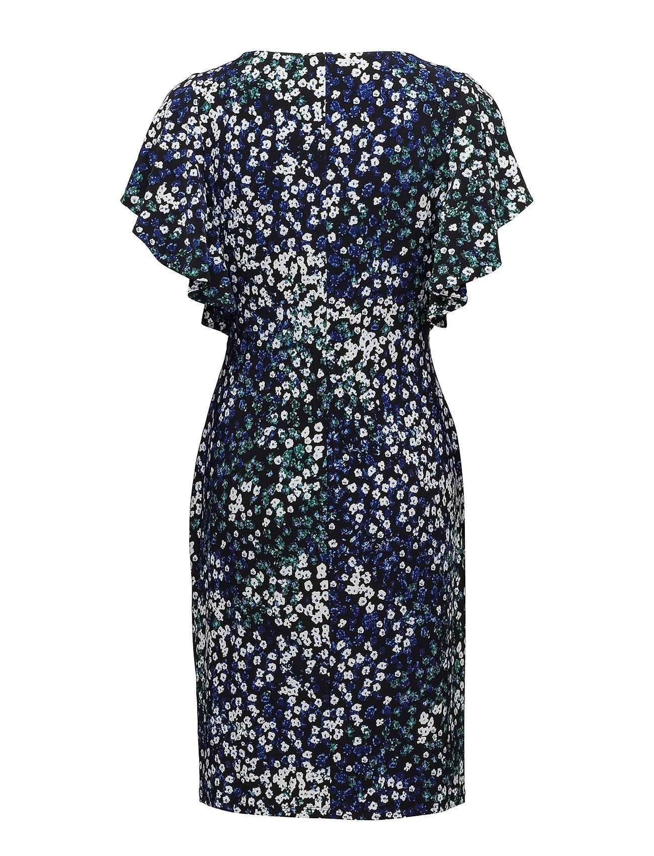 Dressblack Flutter Jersey Floral Ralph blue mltLauren sleeve dxWCoerB