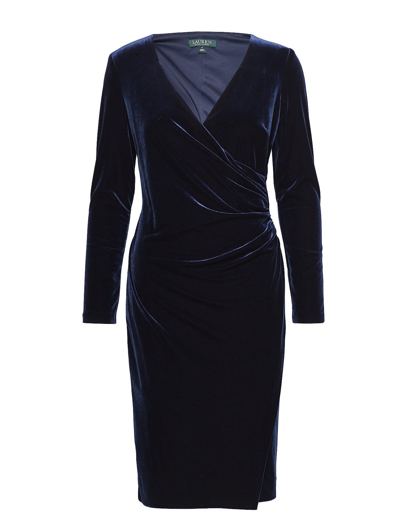 Lauren Ralph Lauren Velvet Surplice Dress - NIGHTFALL