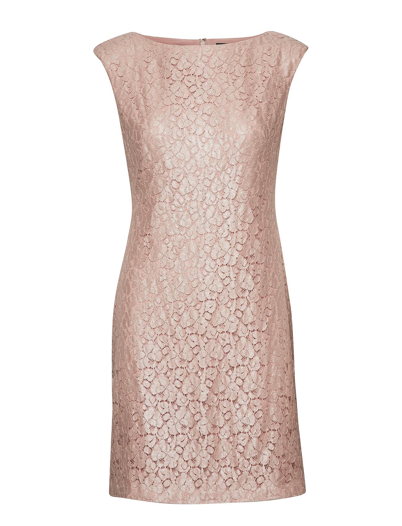 Lauren Ralph Lauren Lace Cap-Sleeve Dress - ROSE