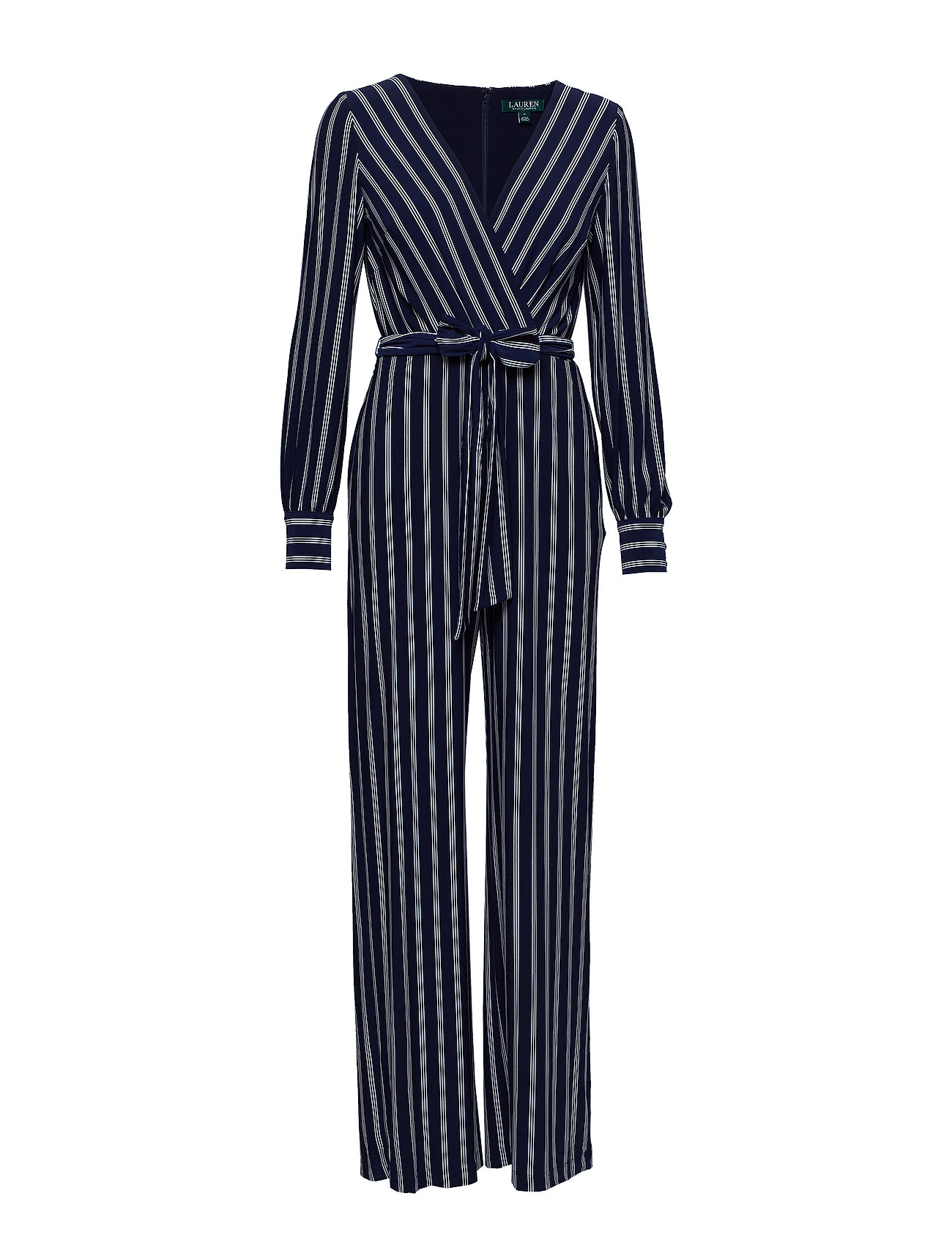 d3ed13e002ad Striped Jersey Jumpsuit (Lighthouse Navy c) (£200) - Lauren Ralph ...