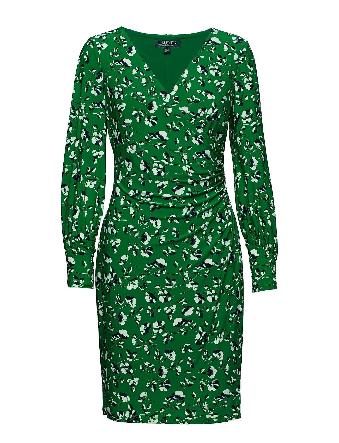 Lauren Ralph Lauren Floral-Print Jersey Dress - CAMBRDGE GRN/RCH