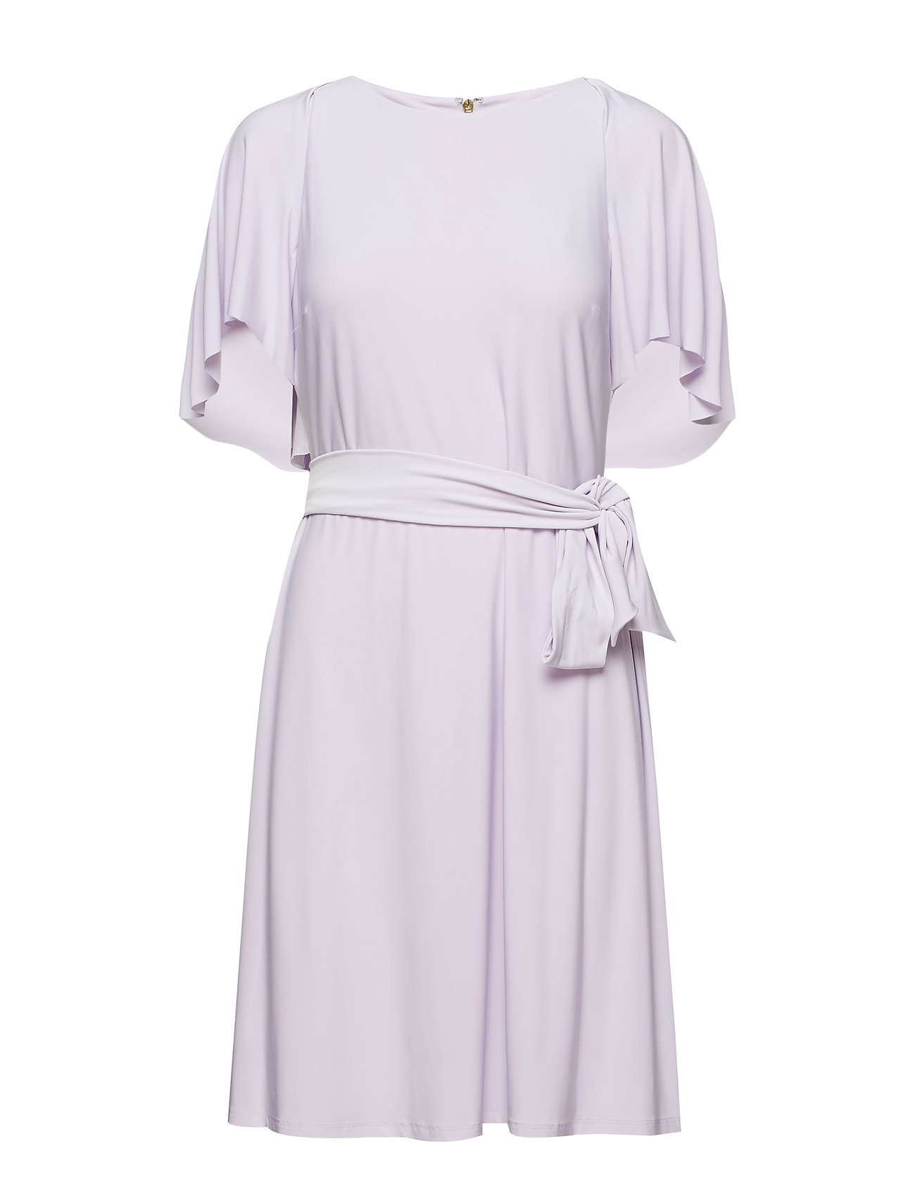 Lauren Ralph Lauren Jersey Flutter-Sleeve Dress - FRESH ORCHID