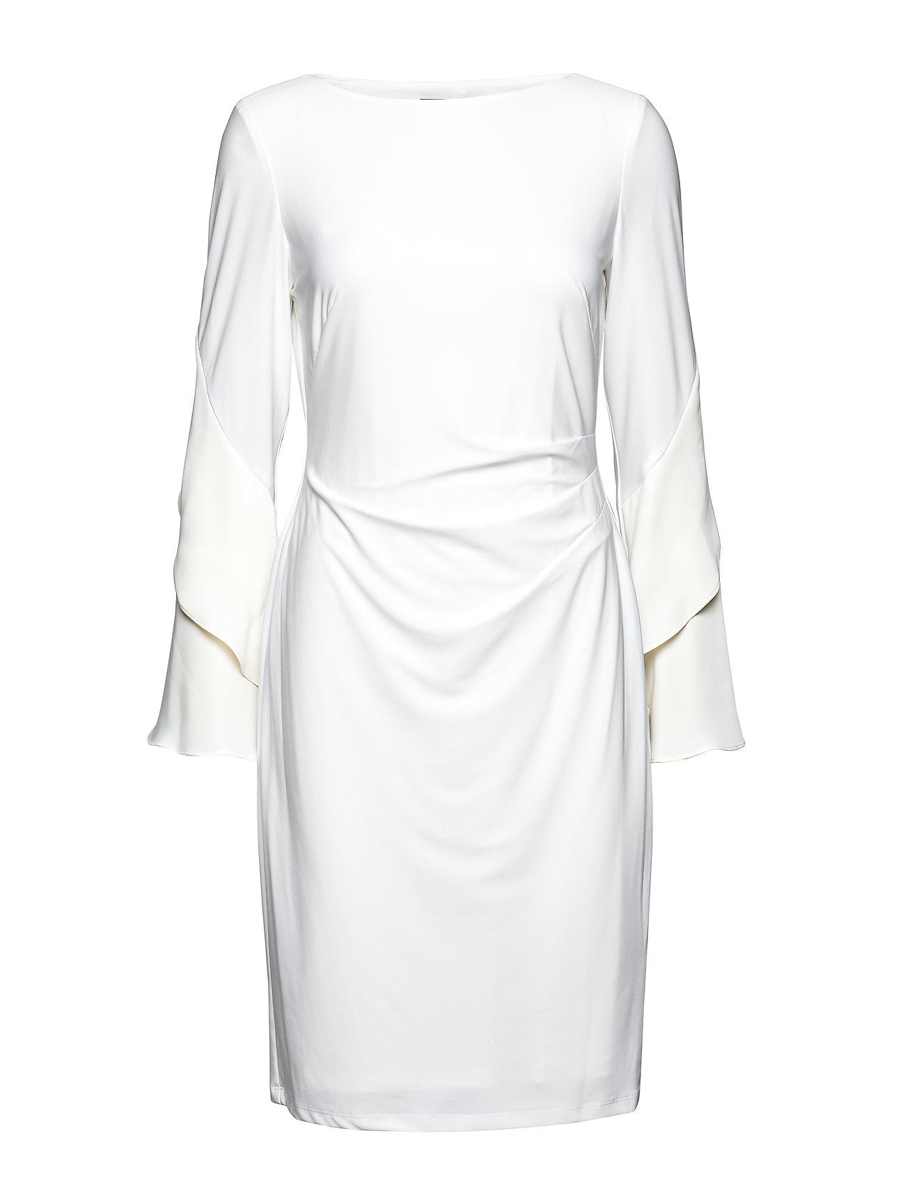 Lauren Ralph Lauren Jersey Ruffle-Sleeve Dress - LAUREN WHITE