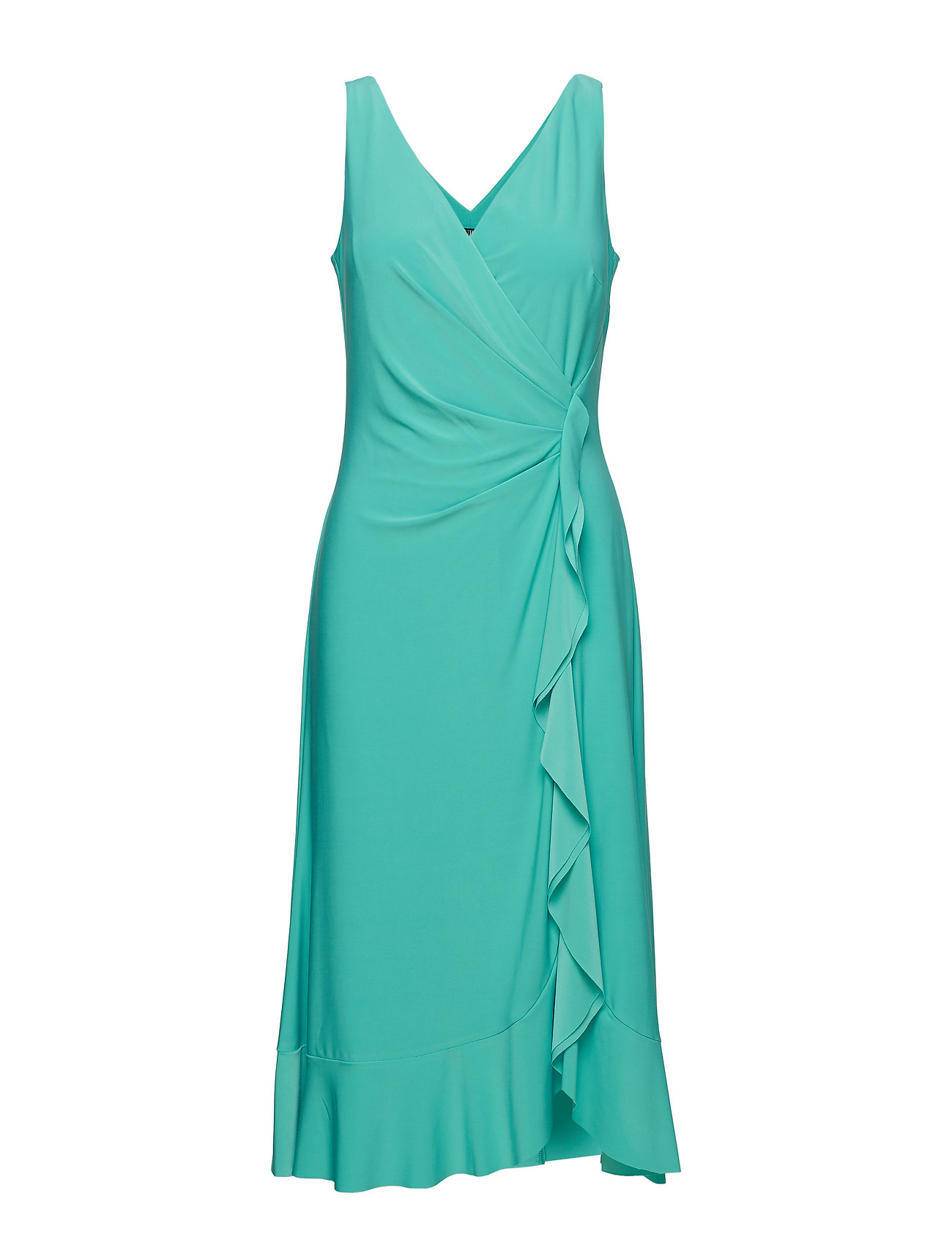 Lauren Ralph Lauren Ruffle-Trim Ruched Dress