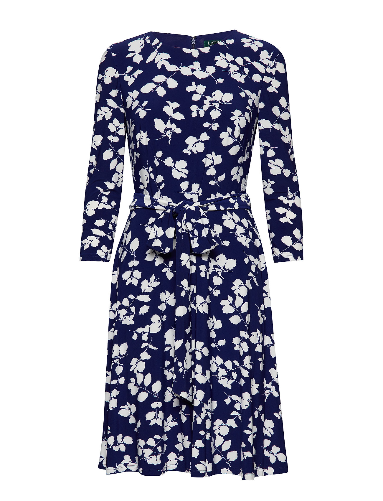Lauren Ralph Lauren Floral Fit-and-Flare Dress - CANNES BLUE/IVORY