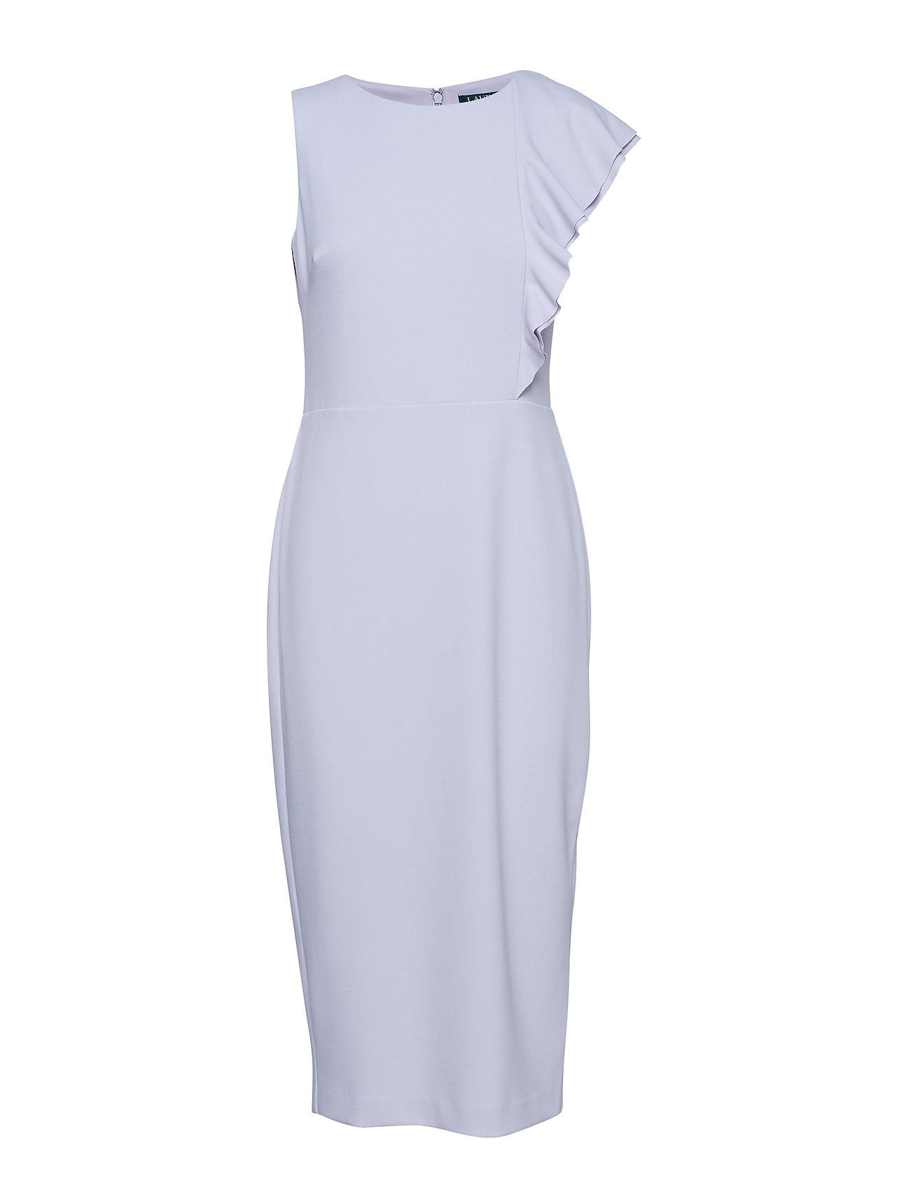 Lauren Ralph Lauren Ruffle-Trim Crepe Dress - FRESH ORCHID