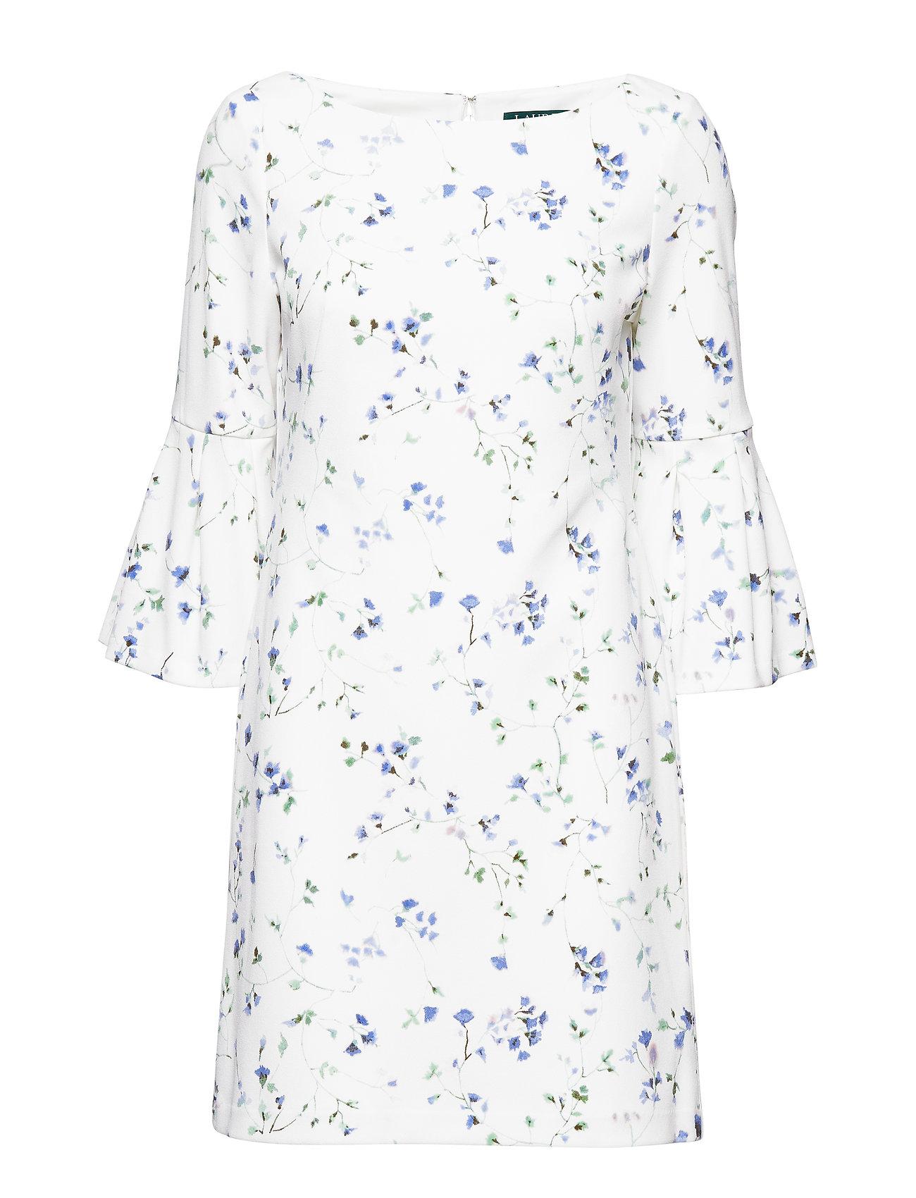 Lauren Ralph Lauren Floral Bell-Sleeve Dress - MASCARPONE CREAM/