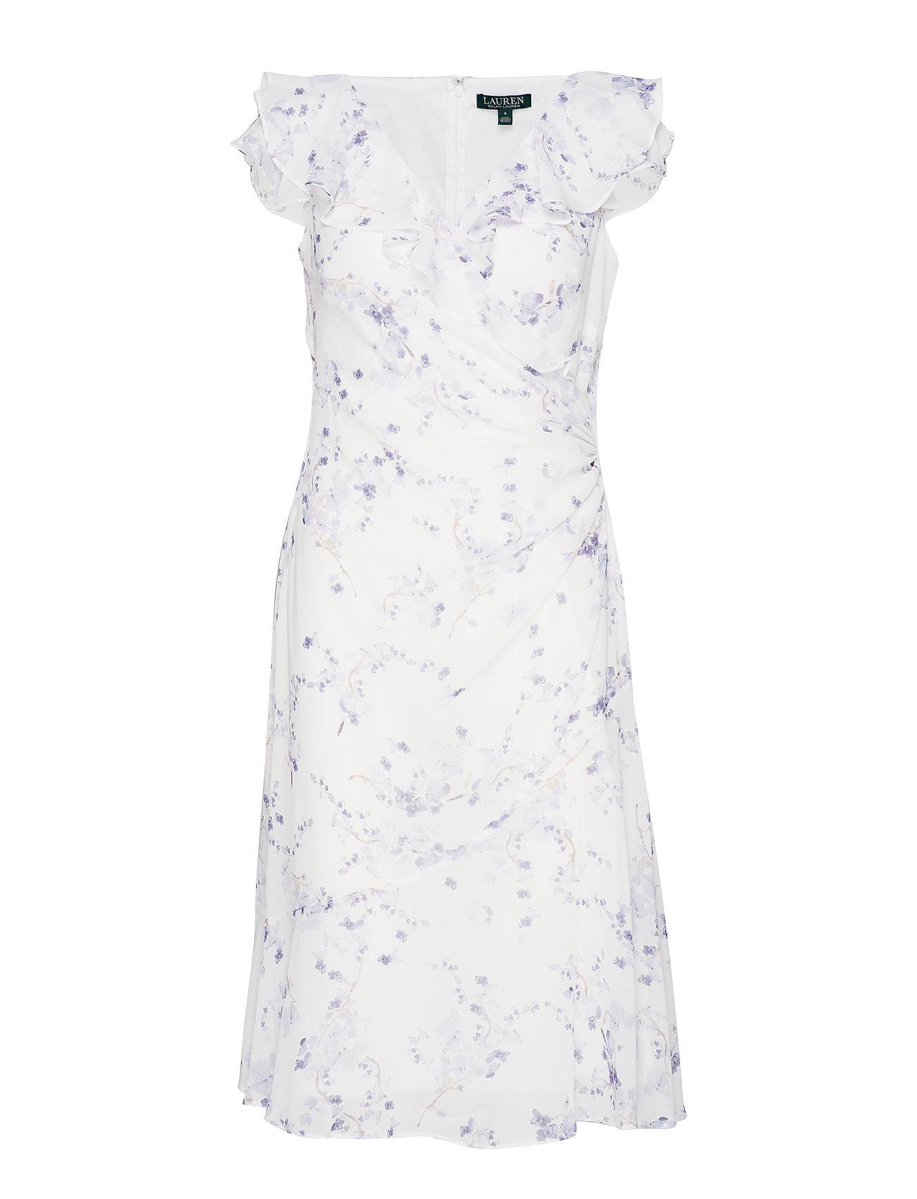 Lauren Ralph Floral Georgette Cap-sleeve Dress - Klänningar
