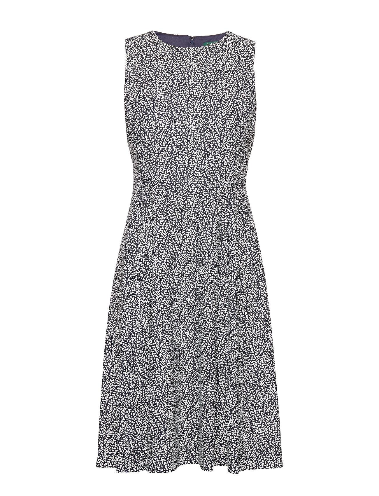 Lauren Ralph Lauren PRINTED TECH CREPE-DRESS - LIGHTHOUSE NAVY/C