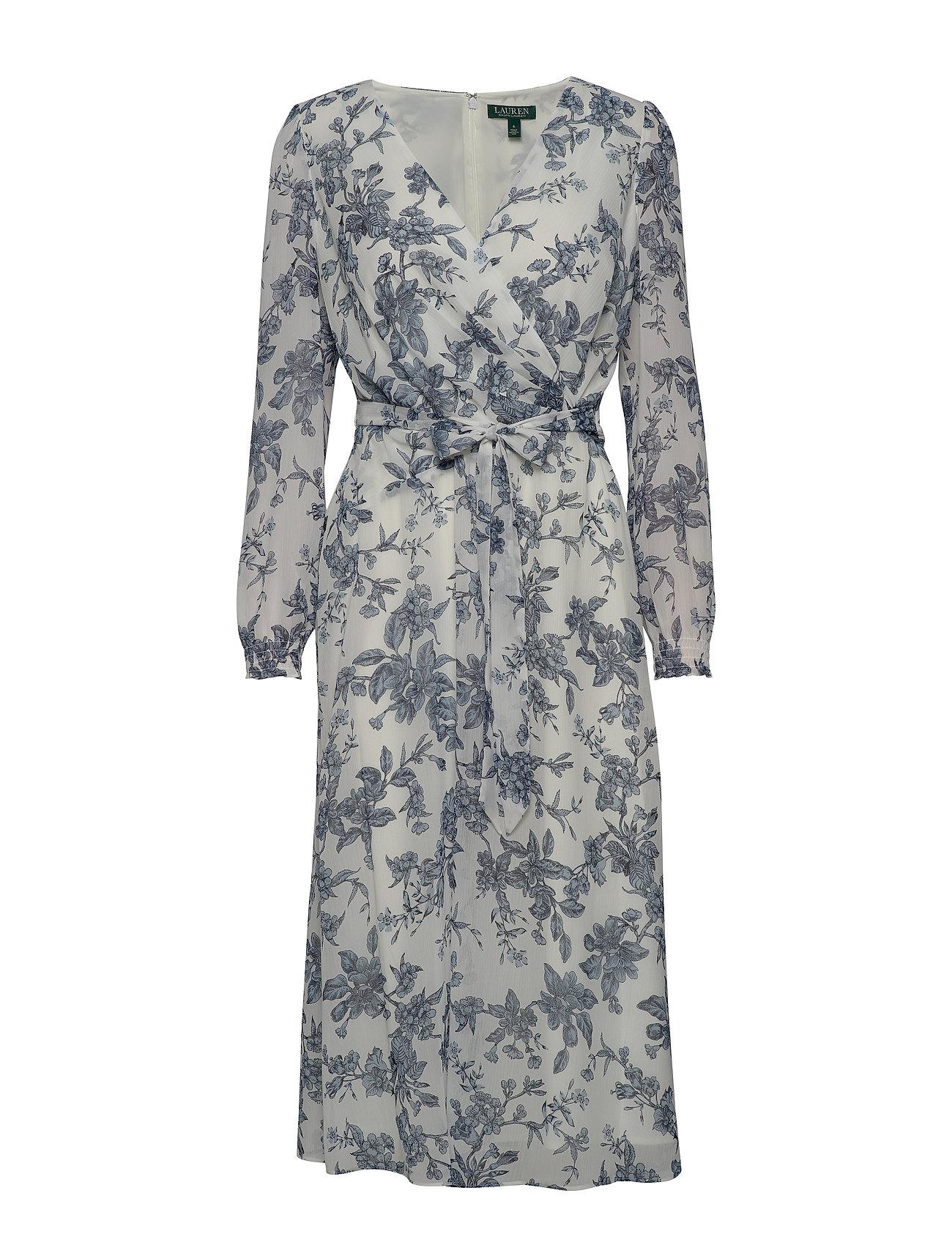 Lauren Ralph Lauren PRINTED GEORGETTE-DRESS - COLONIAL CREAM/BL