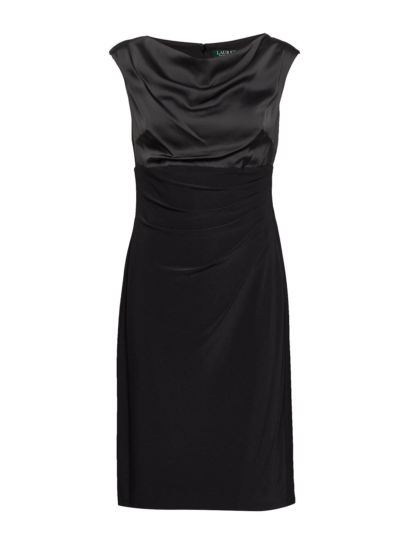 Lauren Ralph Lauren MID WEIGHT MJ-DRESS W/ COMBO - BLACK