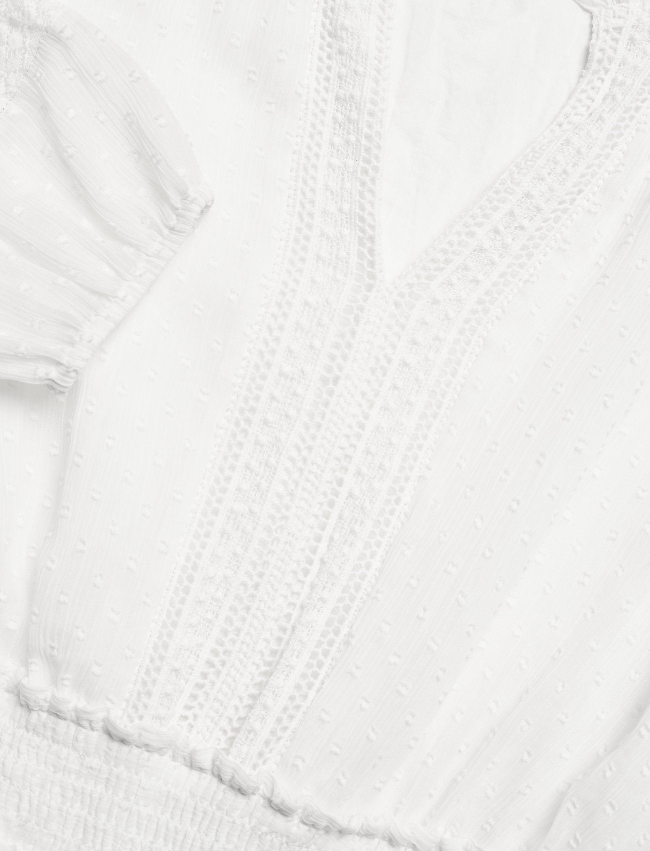 Lauren Ralph Lauren - Polka-Dot Lace-Trim Dobby Dress - alledaagse jurken - lauren white - 3