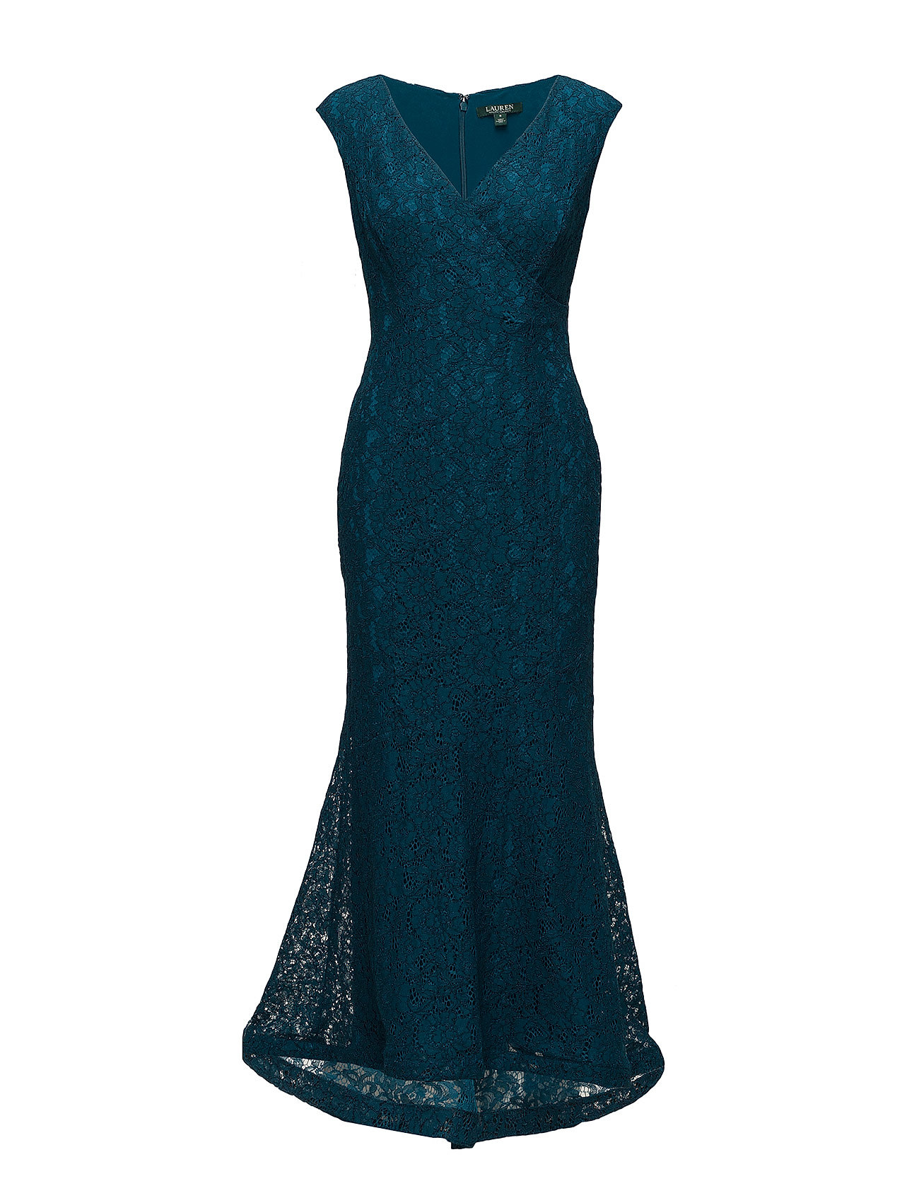 Floral Lace Gown (French Teal/frenc) (£135) - Lauren Ralph Lauren ...