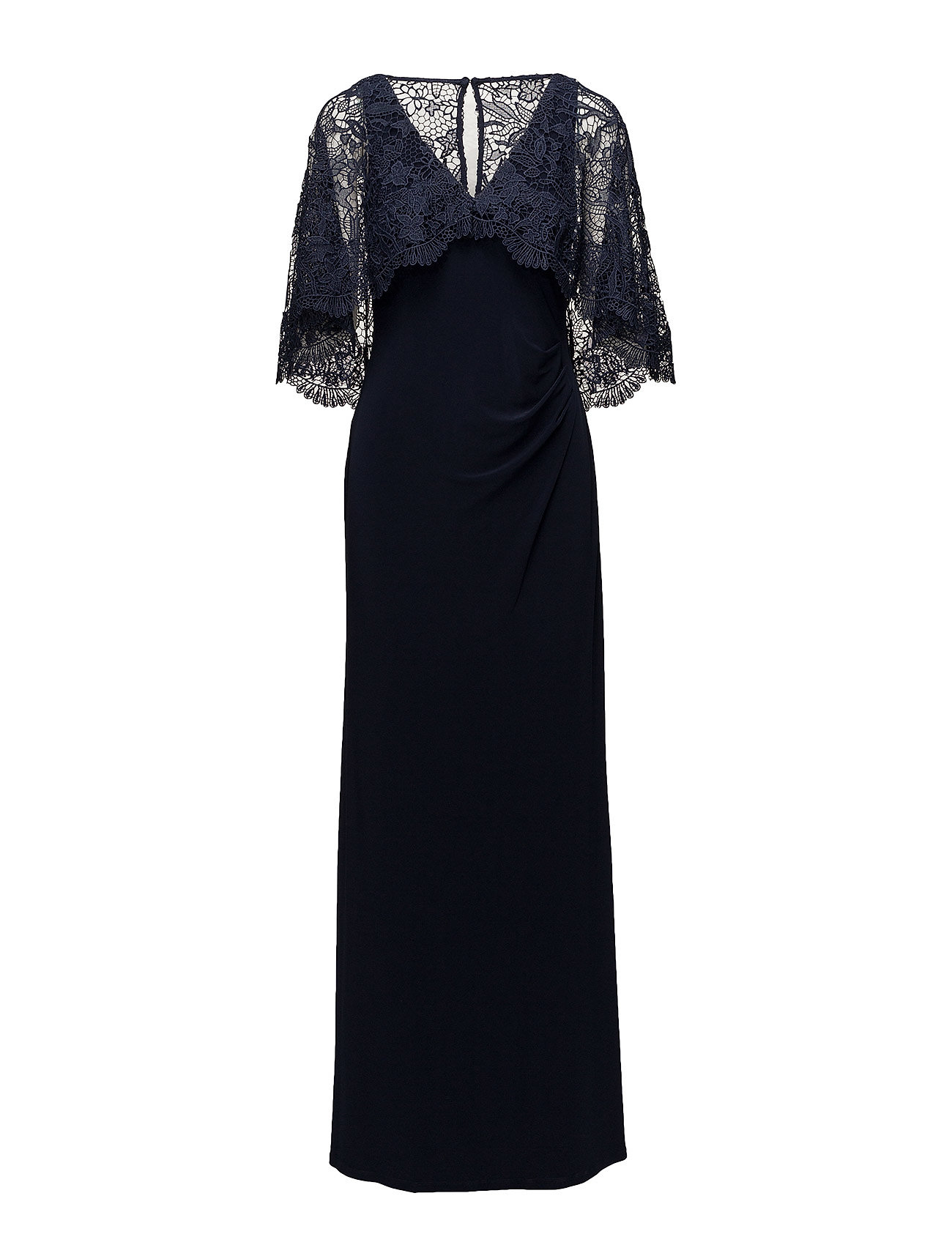 5796eed8610 Lace-overlay Jersey Gown (Lighthouse Navy/l) (£123.75) - Lauren ...