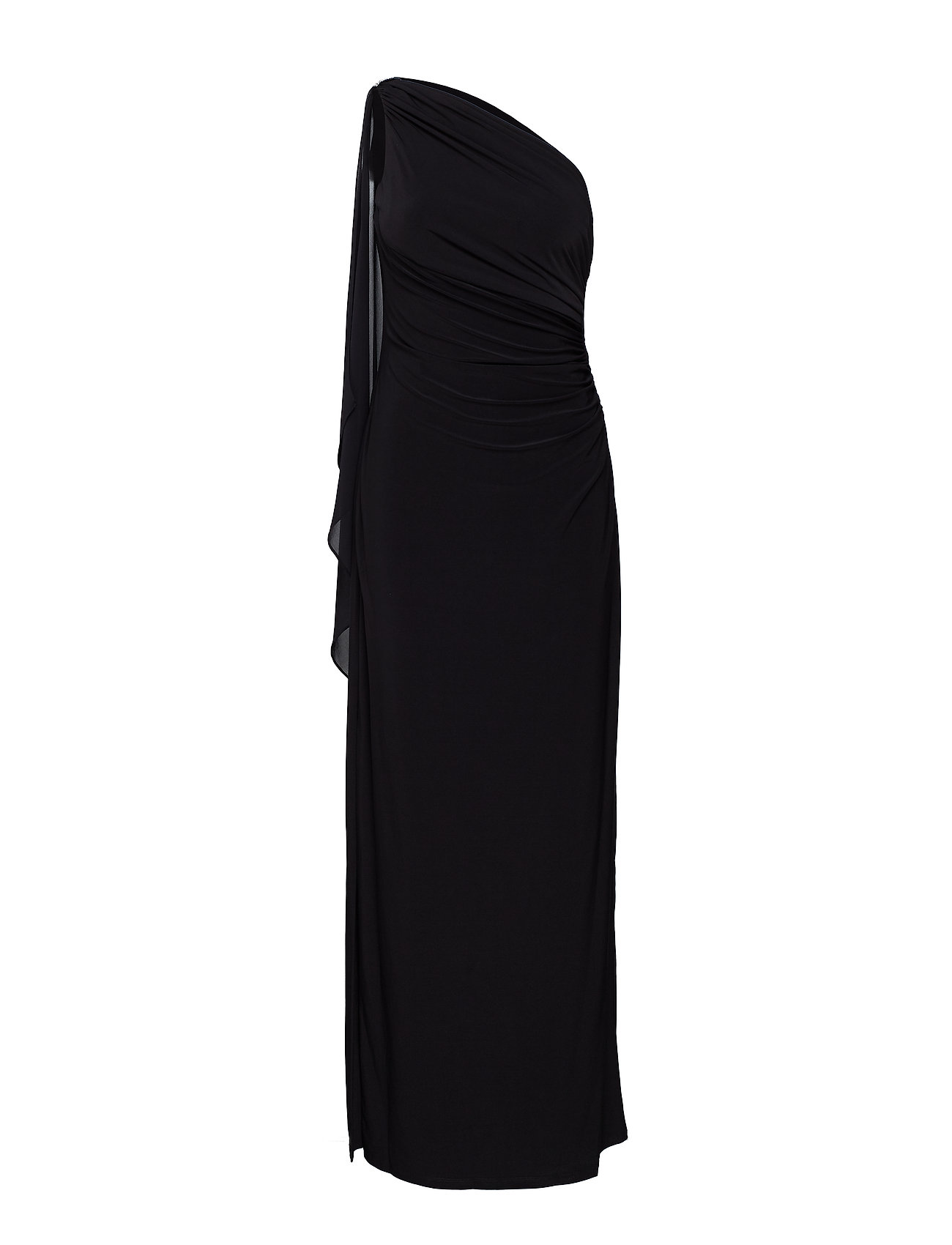 Lauren Ralph Lauren Georgette-Cape Gown - BLACK