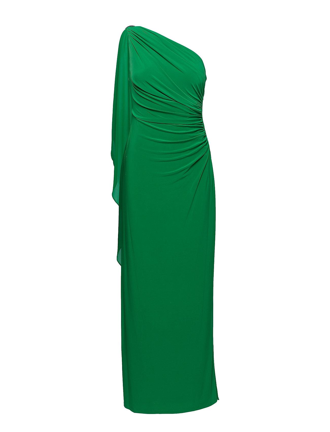 Lauren Ralph Lauren Georgette-Cape Gown - CAMBRIDGE GREEN