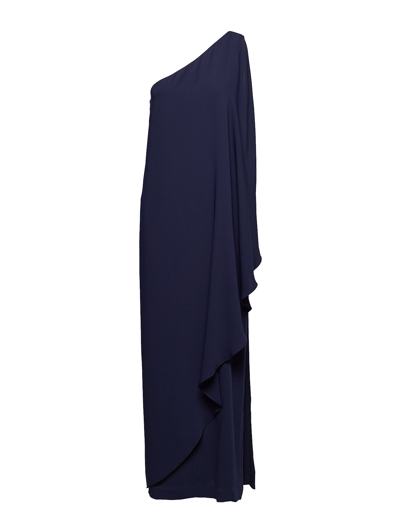 Lauren Ralph Lauren Cape One-Shoulder Gown - LIGHTHOUSE NAVY