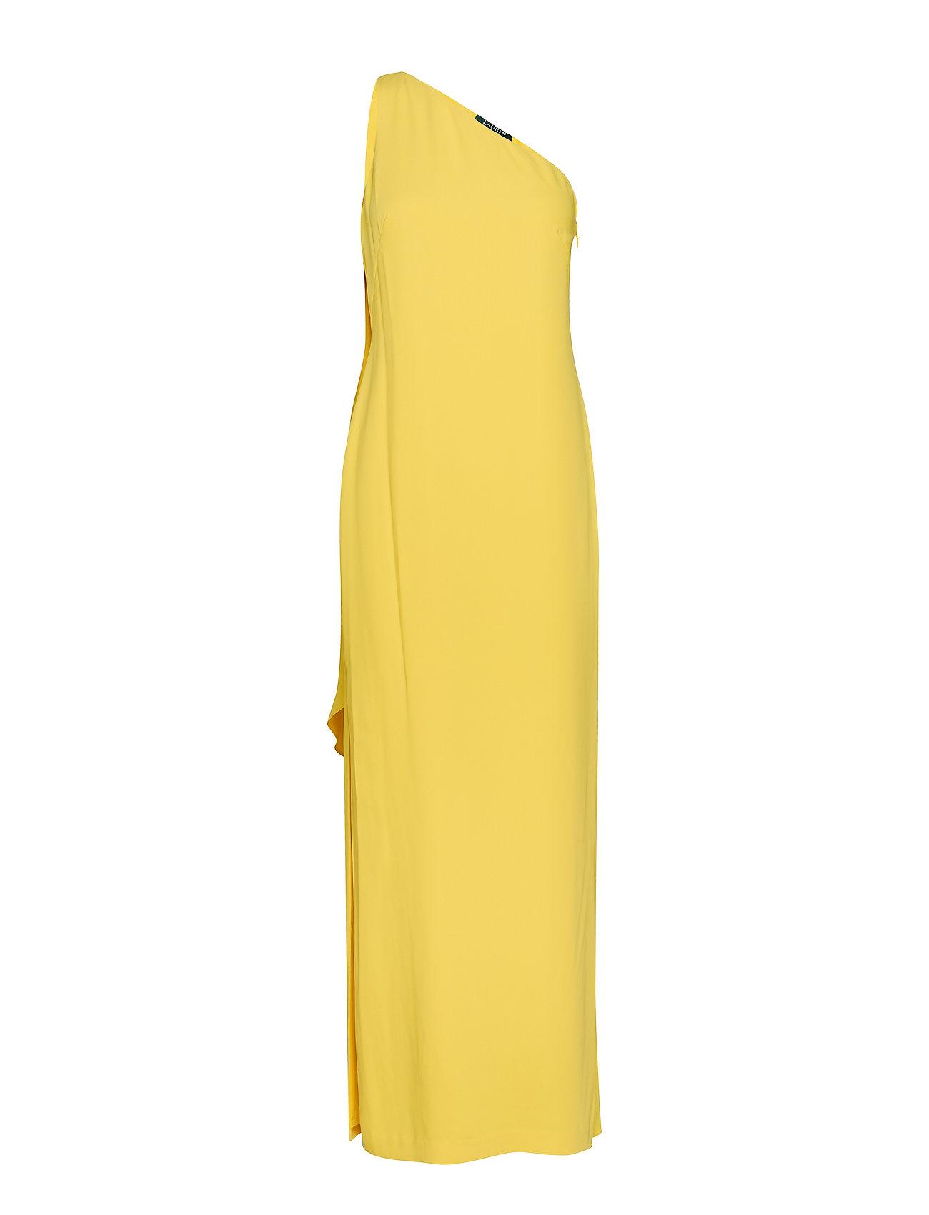 Lauren Ralph Lauren Cape One-Shoulder Gown