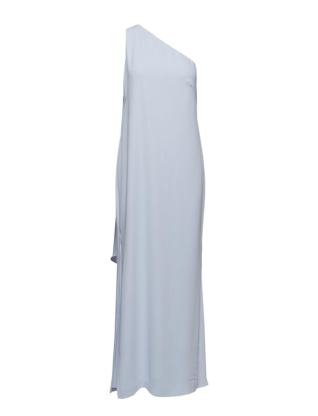 Lauren Ralph Lauren Cape One-Shoulder Gown - WHISPER BLUE