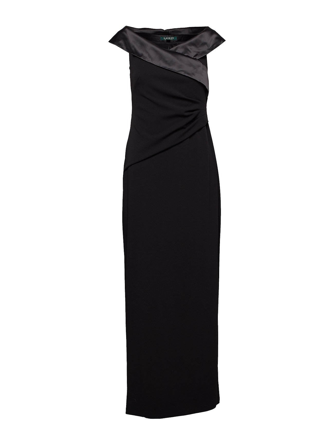 Lauren Ralph Lauren Crepe Off-the-Shoulder Gown - BLACK