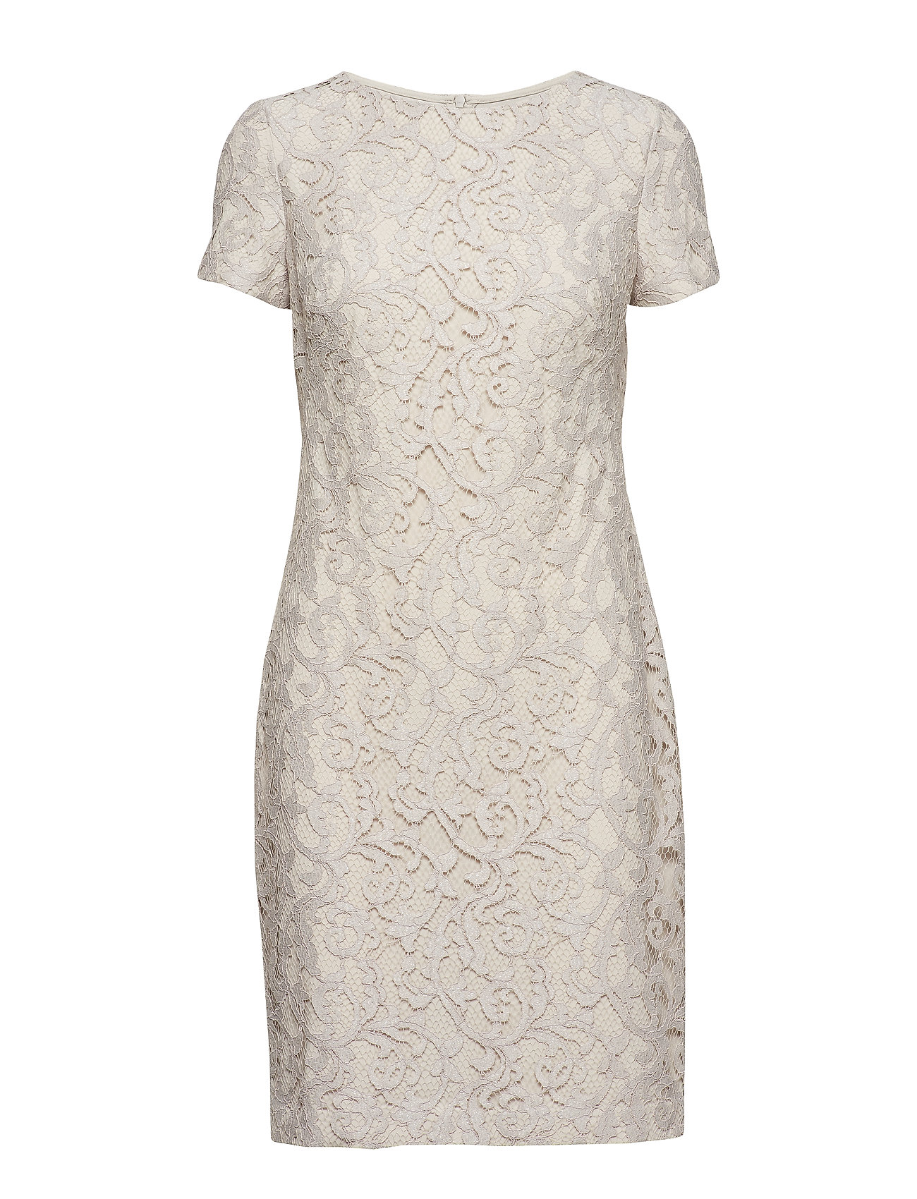 Lauren Ralph Lauren Lace Dress - SANDSTONE/SILVER