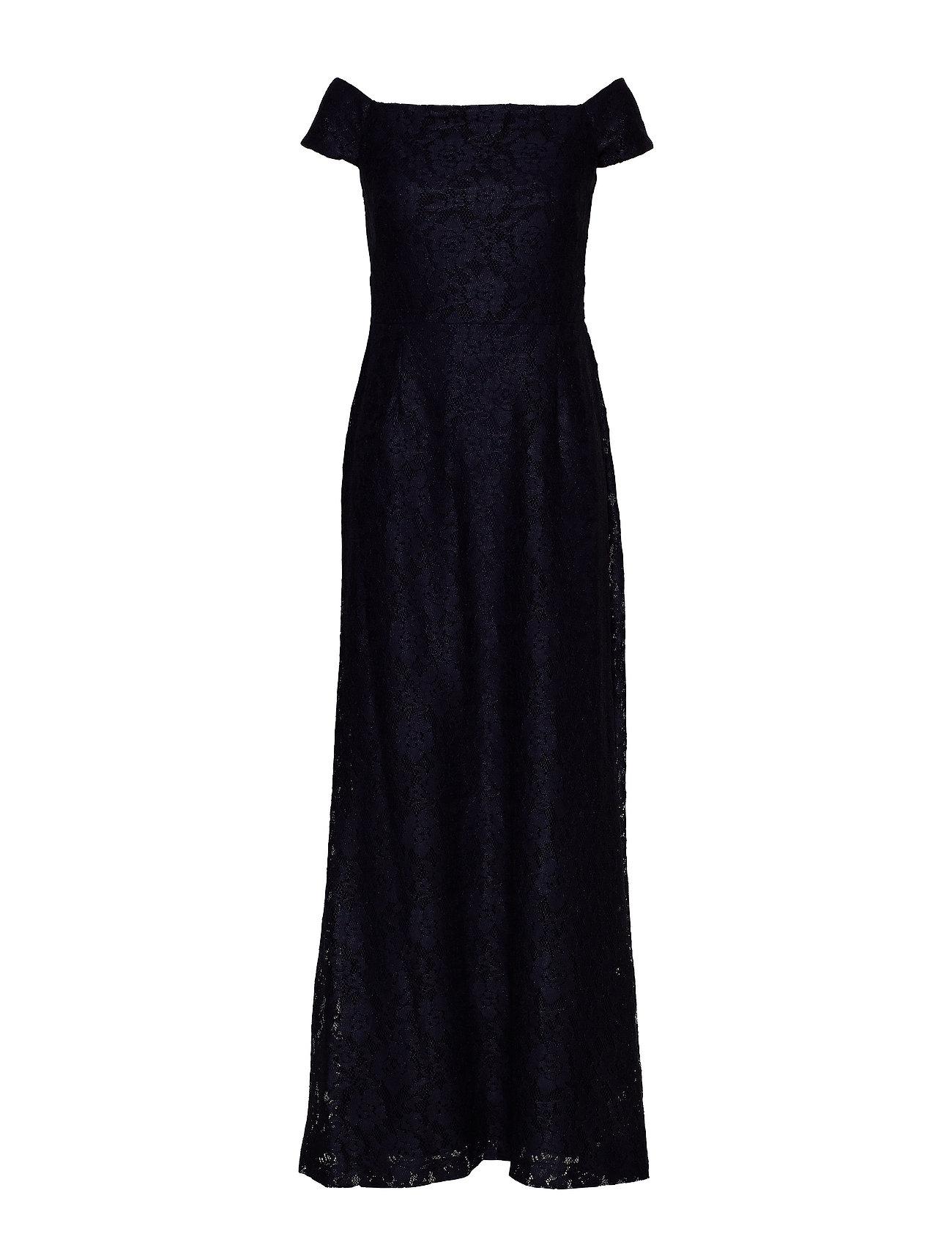 Lauren Ralph Lauren Lace Off-the-Shoulder Gown - LIGHTHOUSE NAVY