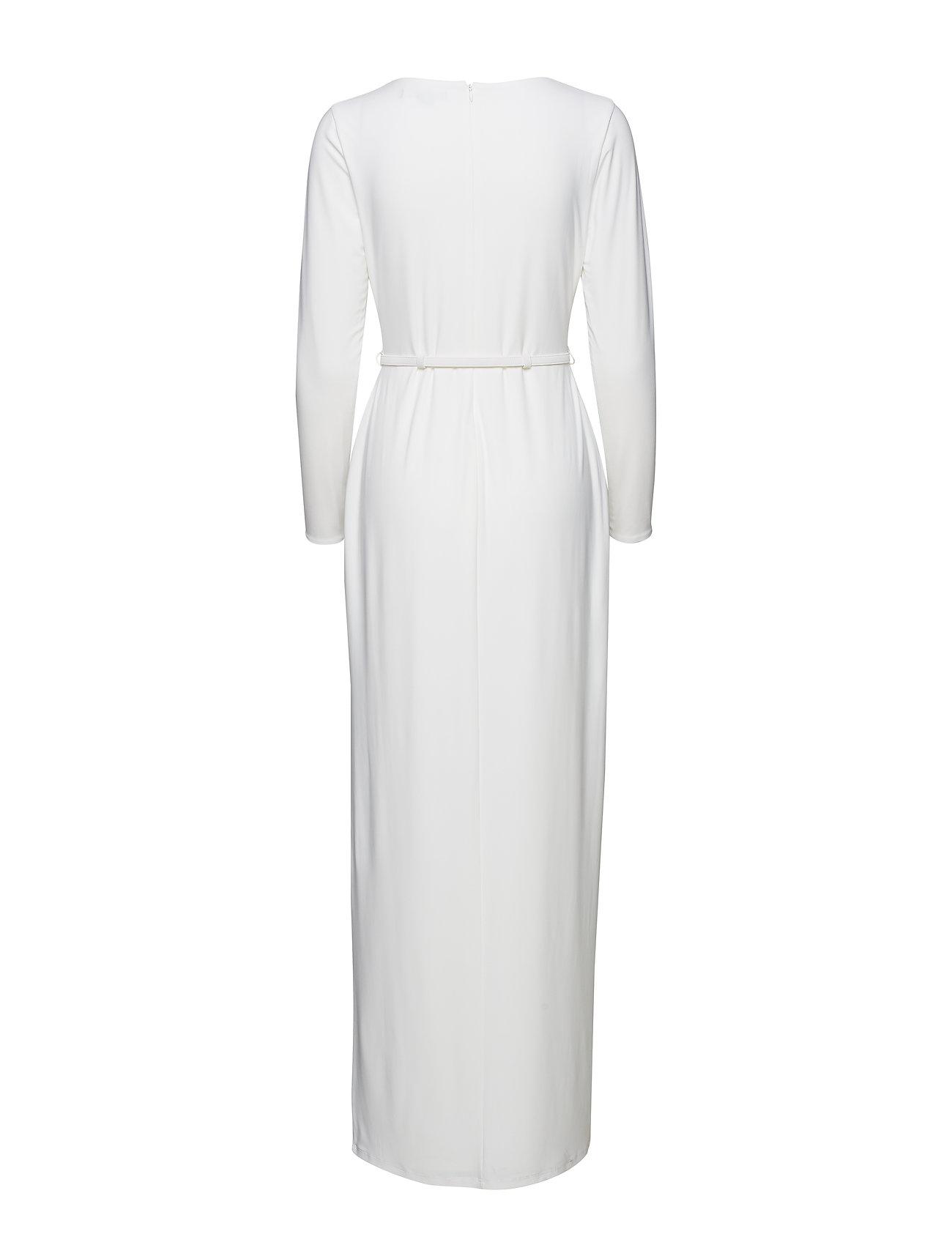Gownlauren WhiteLauren Jersey Ruched Belted Ralph fgv7ybI6Ym