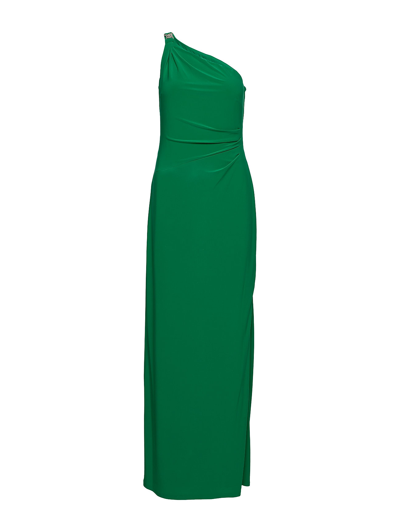 Lauren Ralph Lauren Jersey One-Shoulder Gown - MALACHITE