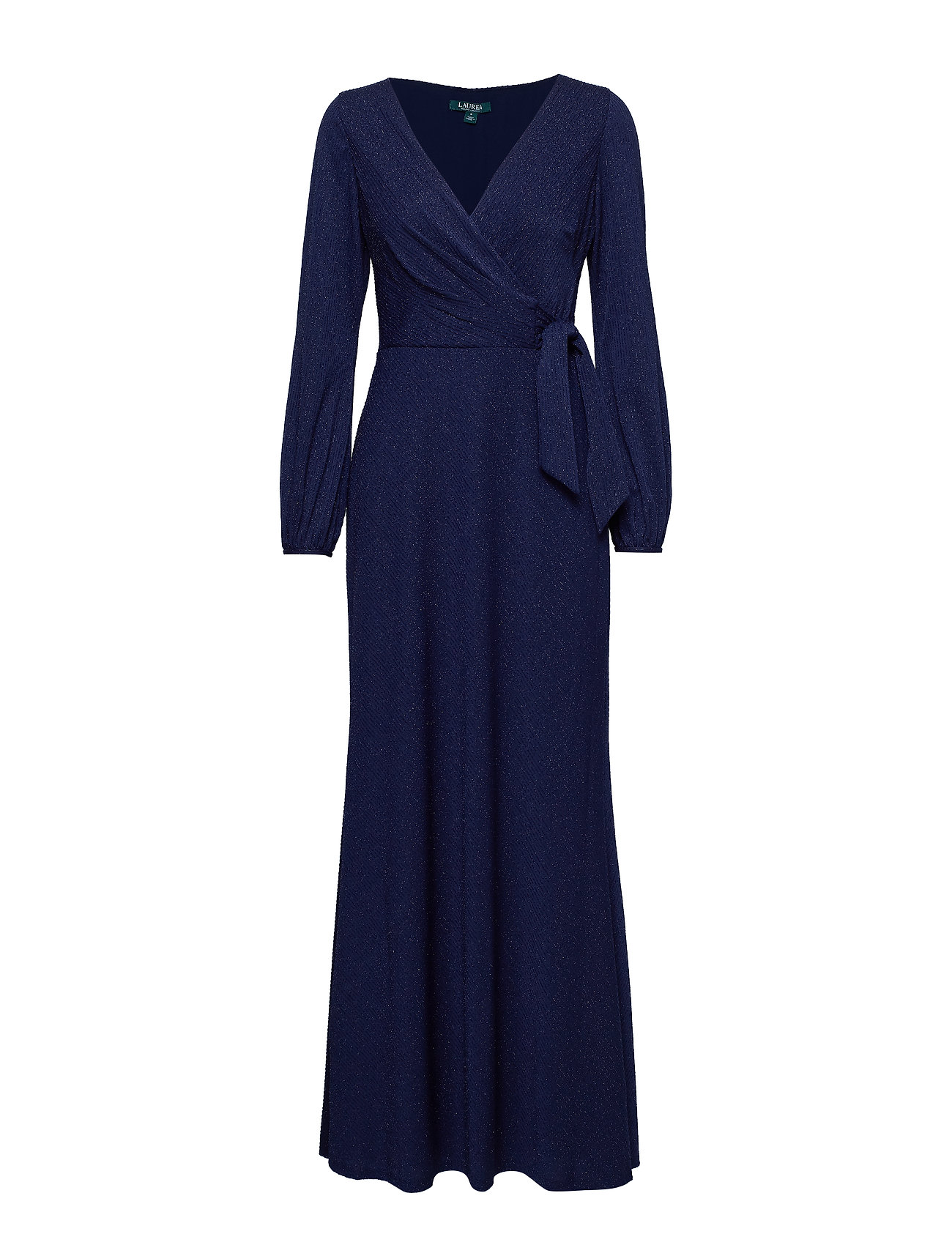 3c3697c0eb Rebekah-long Sleeve-evening Dress (Navy Metallic) (£225) - Lauren ...